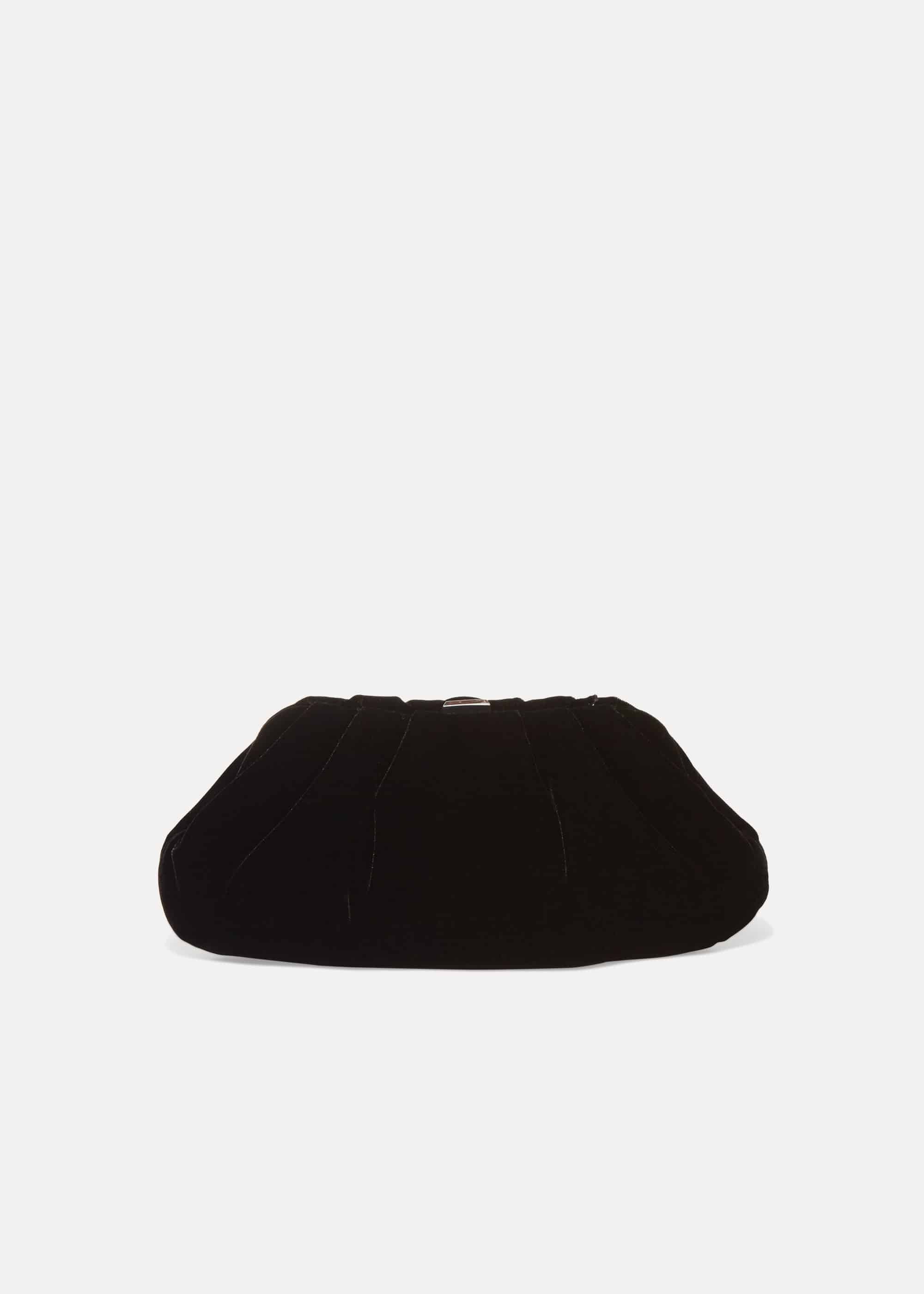 Phase Eight Valerie Velvet Clutch Bag, Black, Bag