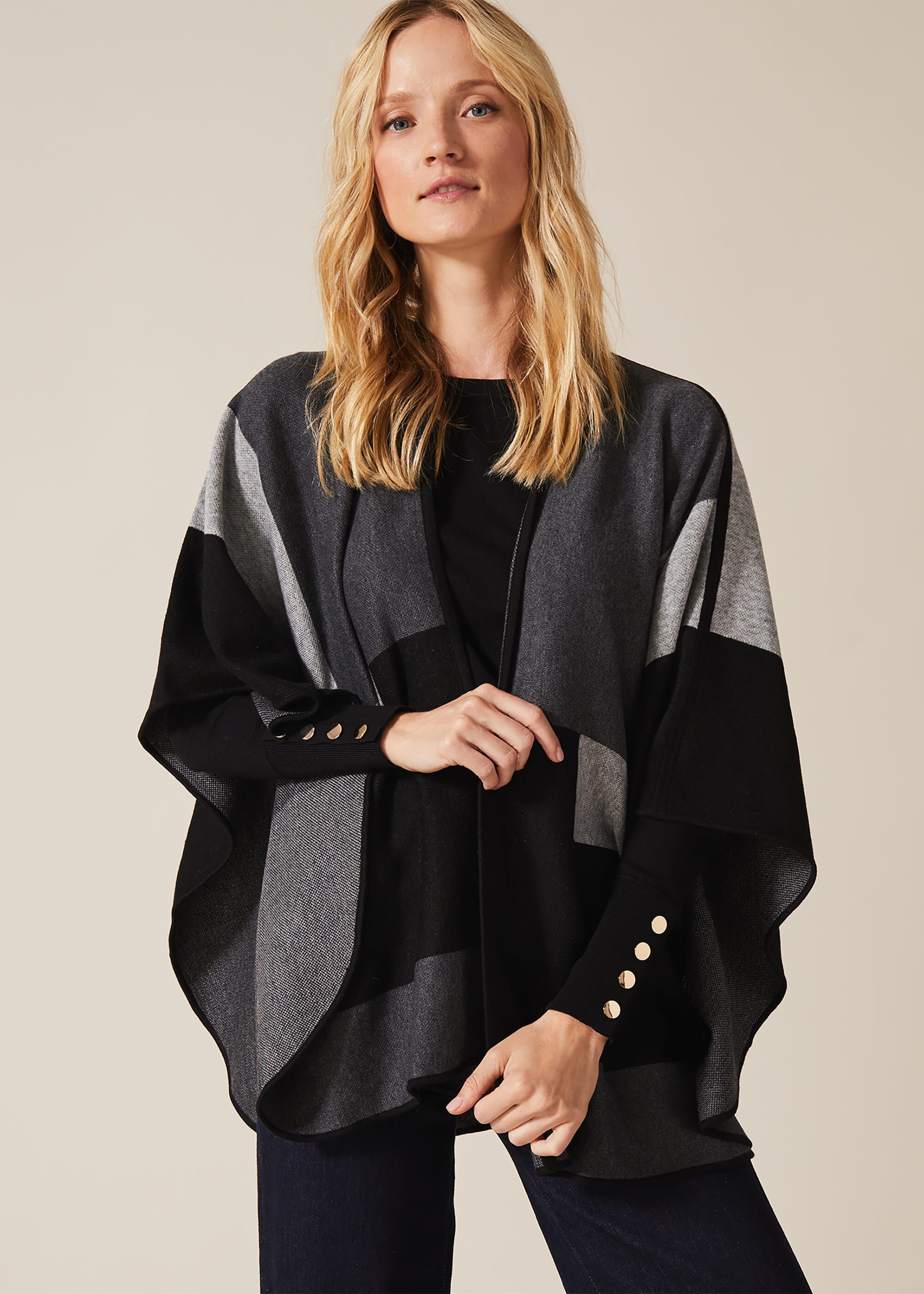 Phase Eight Nel Oversized Cape, Black, Cape