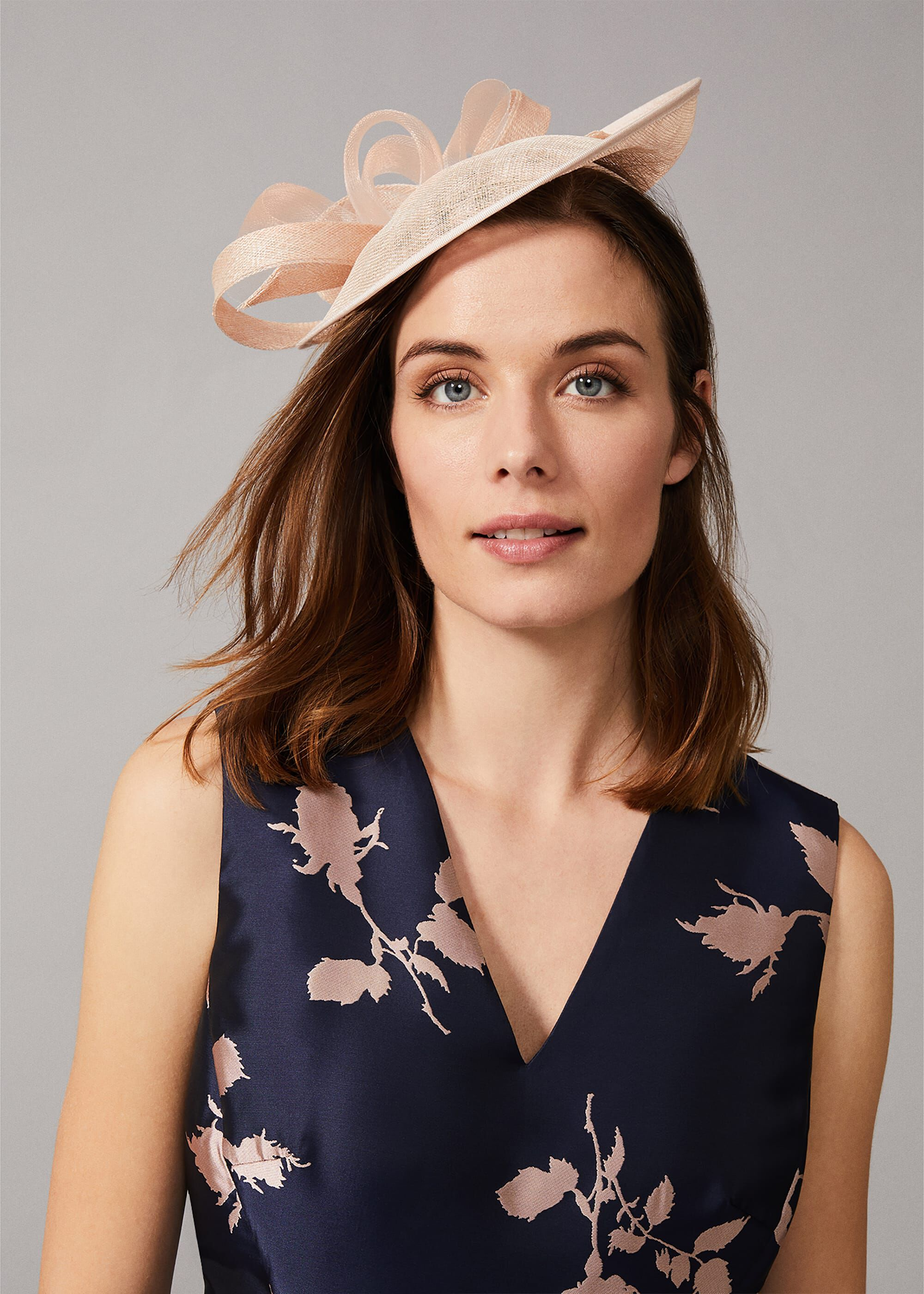 Phase Eight Amylia Twist Disc Fascinator, Neutral, Fascinator