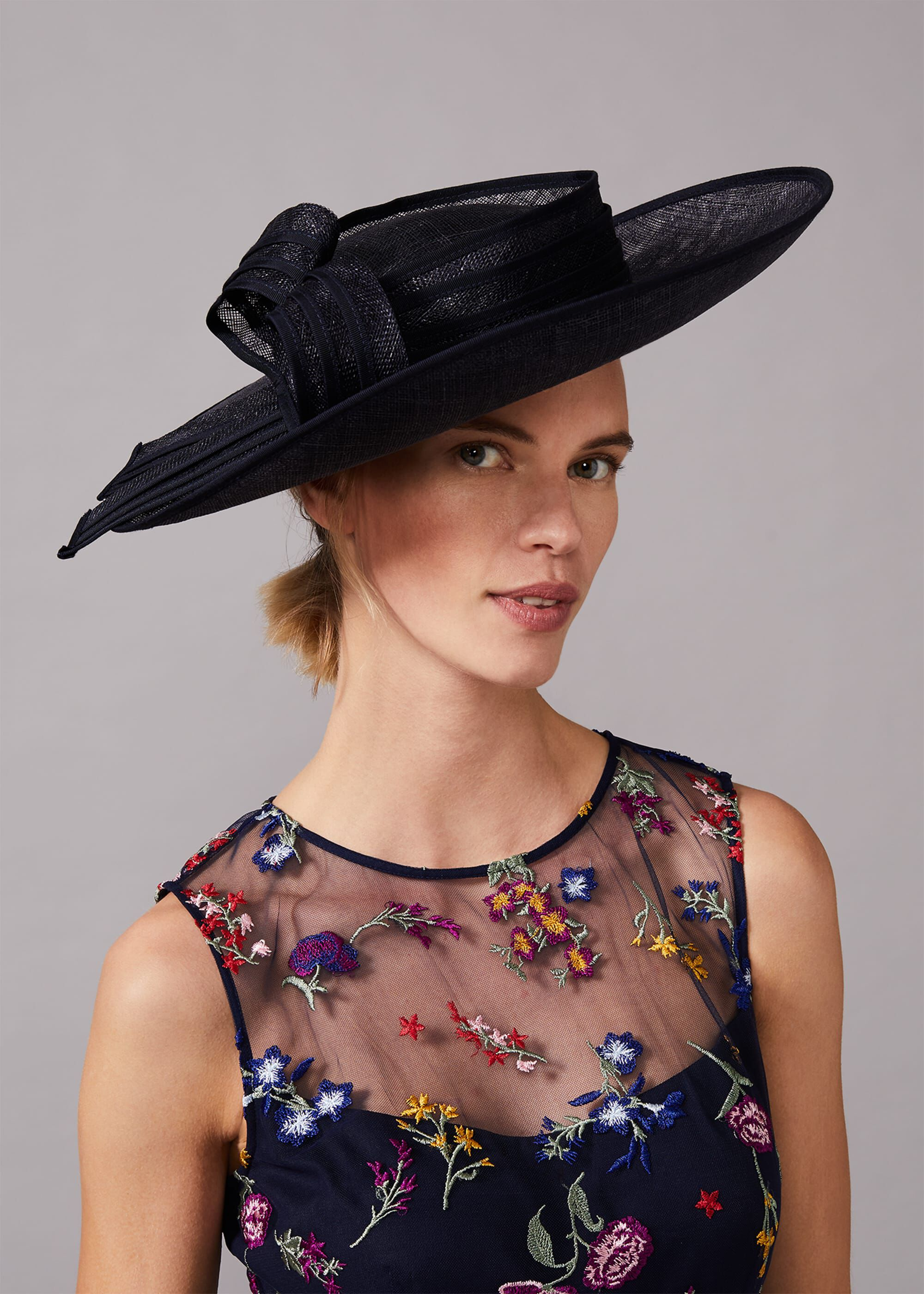 Phase Eight Alma Disc Fascinator, Blue, Hat