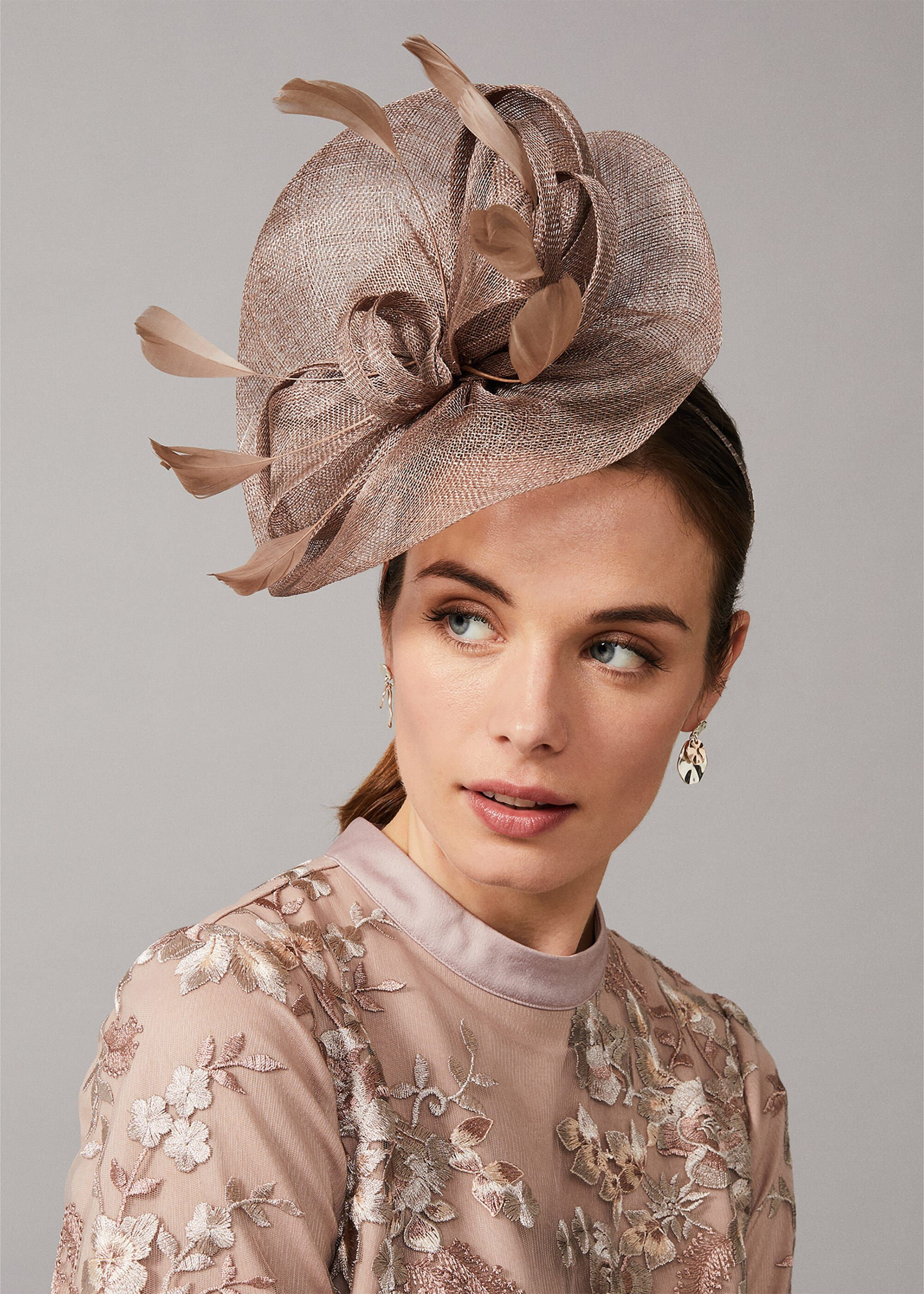 Phase Eight Gulia Twist Fascinator, Neutral, Hat