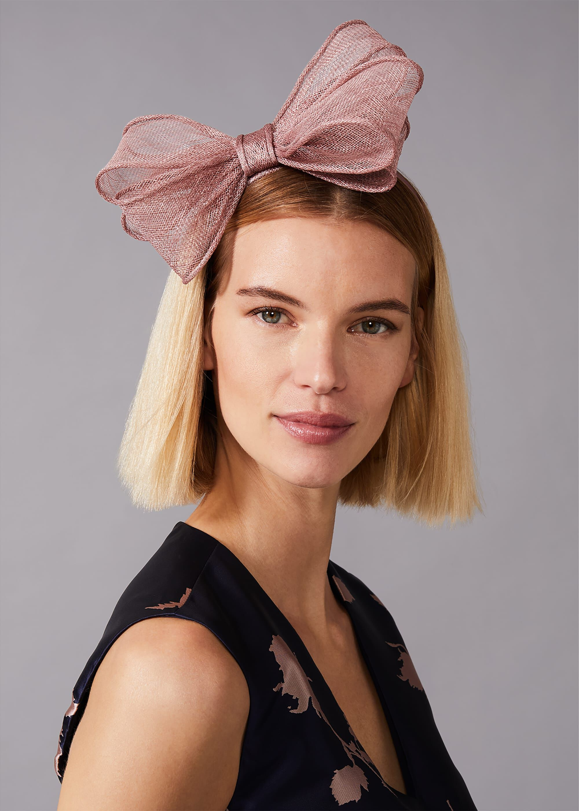 Phase Eight Zalinda Bow Headband, Pink, Hat