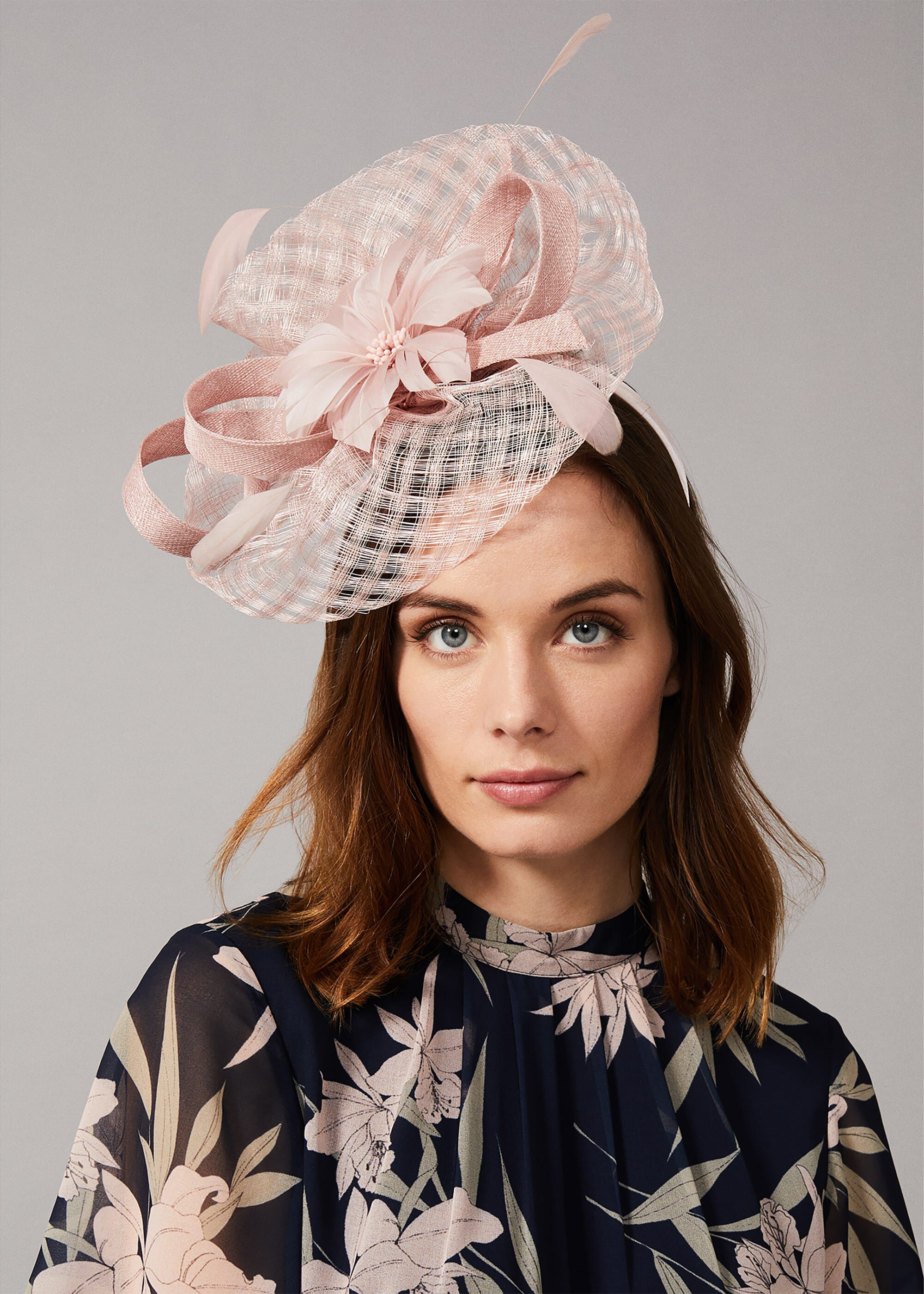 Phase Eight Danna Flower Fascinator, Pink, Hat