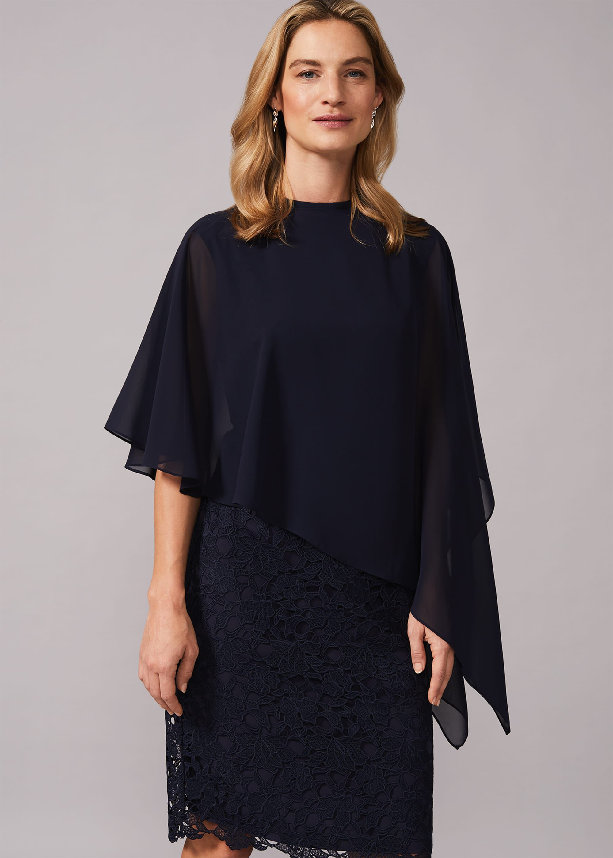 Phase Eight Sinaed Cover Up, Blue, Poncho