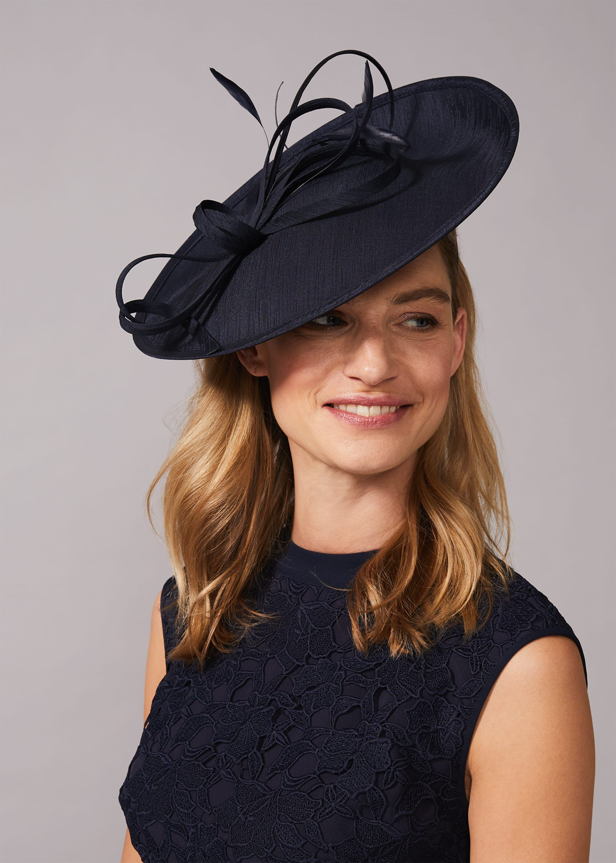 Phase Eight Sherby Twist Disc Fascinator, Blue, Fascinator
