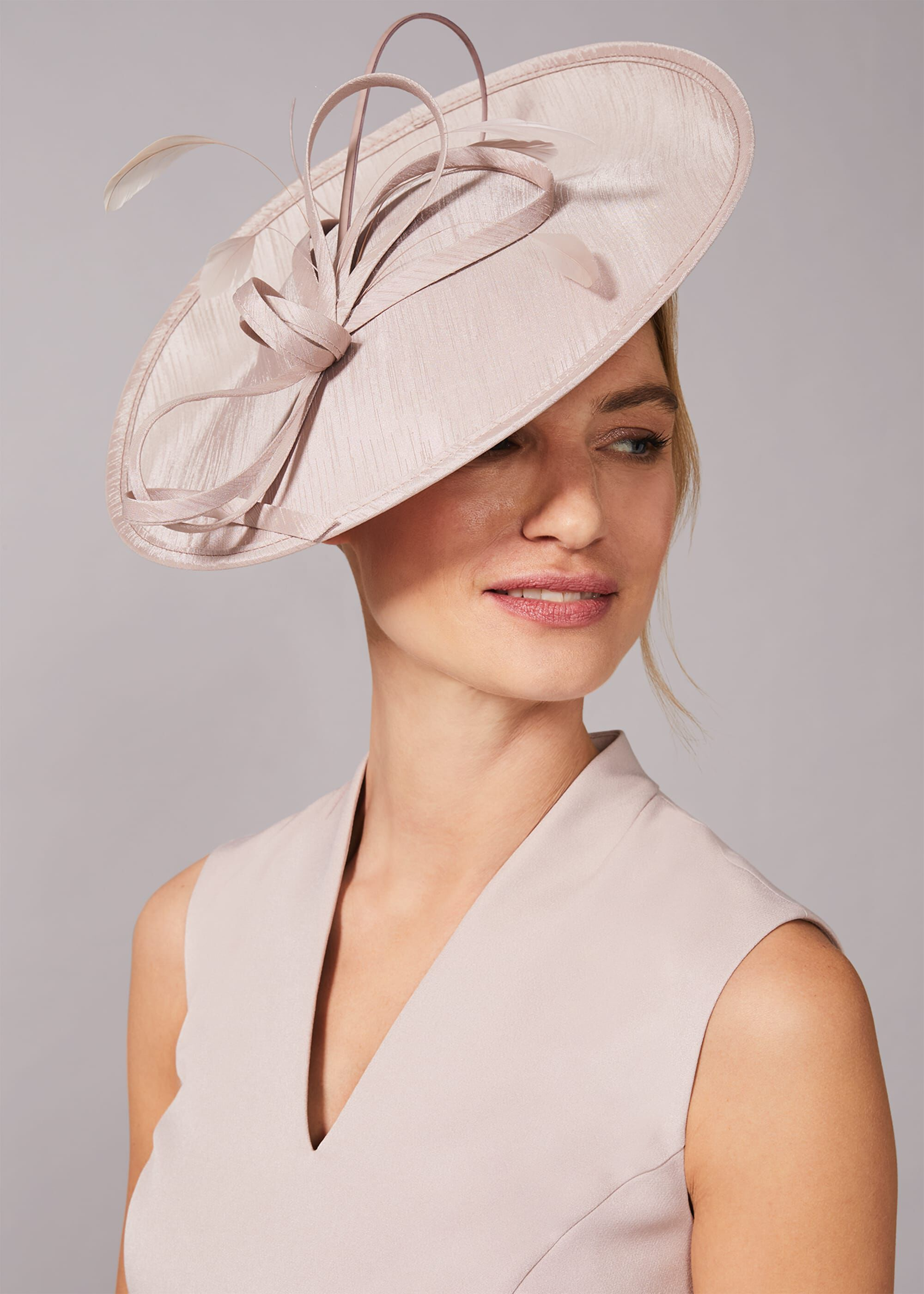 Phase Eight Sherby Twist Disc Fascinator, Neutral, Hat