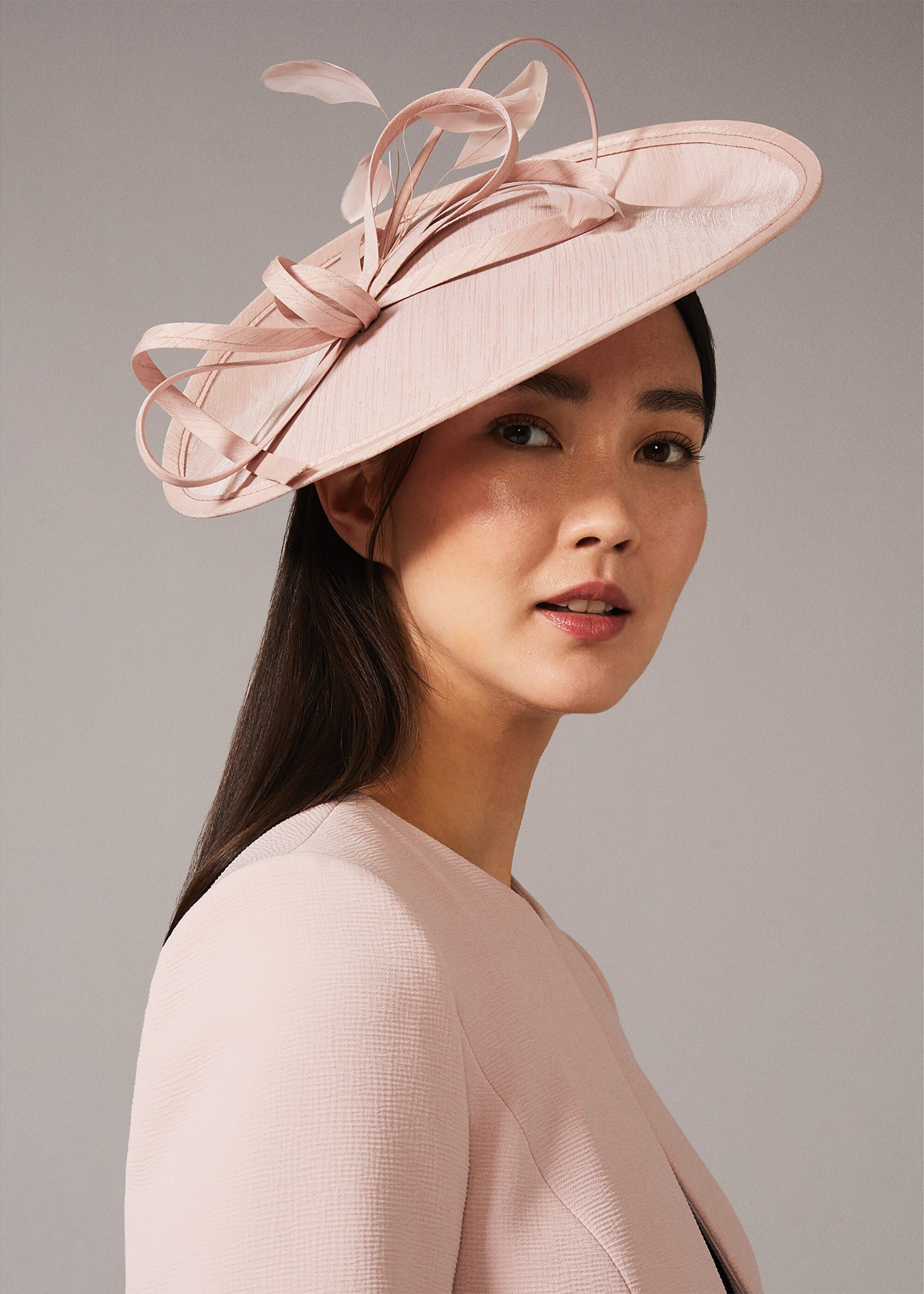Phase Eight Sherby Twist Disc Fascinator, Pink, Hat