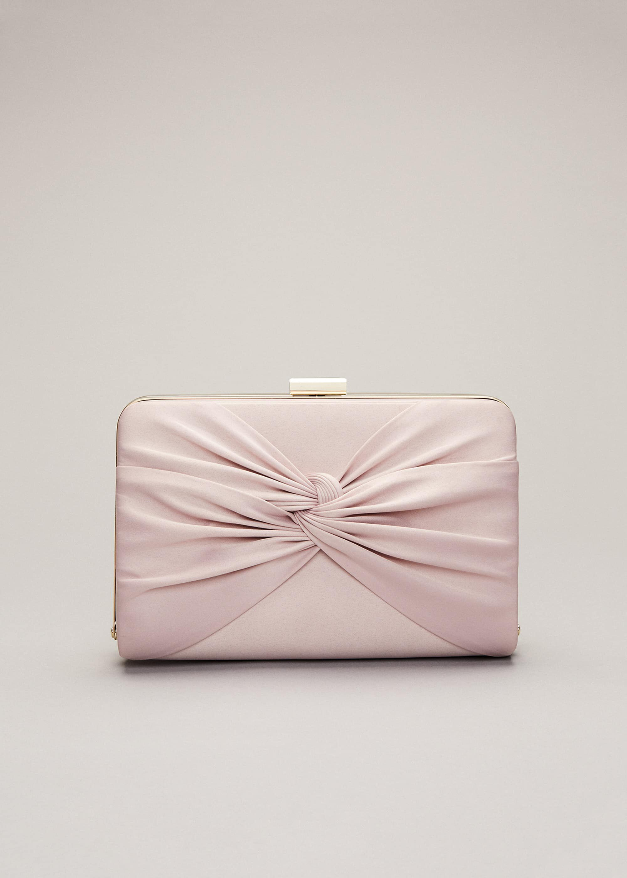 Phase Eight Kendal Clutch Bag, Pink, Bag