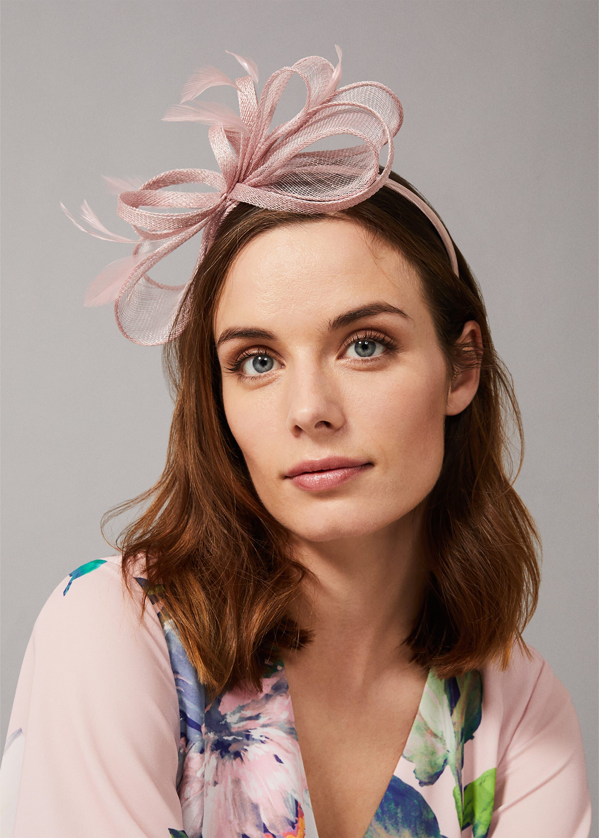 Phase Eight Marcella Bow Headband, Neutral, Fascinator