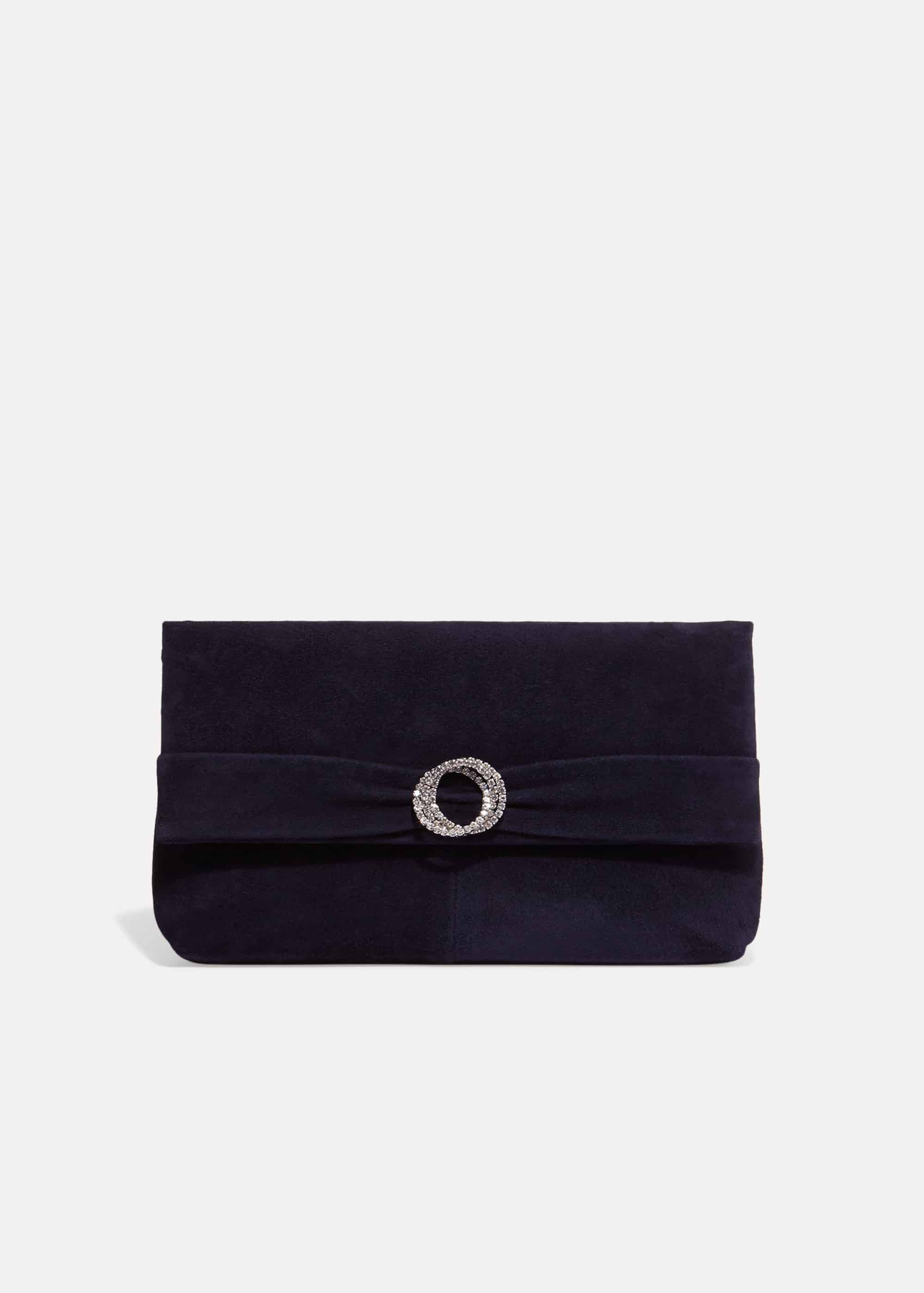 Phase Eight Joelle Clutch Bag, Blue, Bag