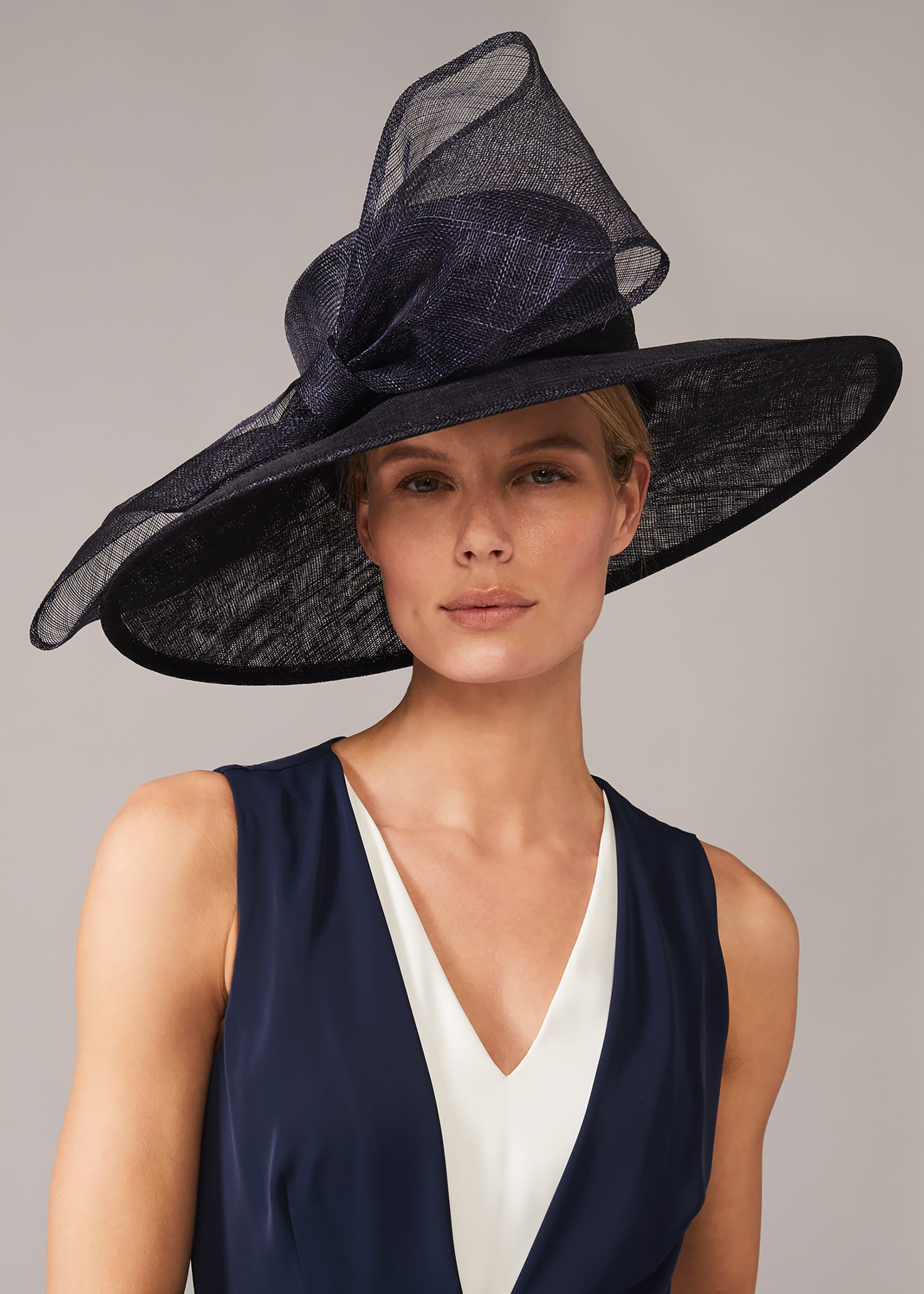 Phase Eight Timone Bow Hat, Blue, Hat