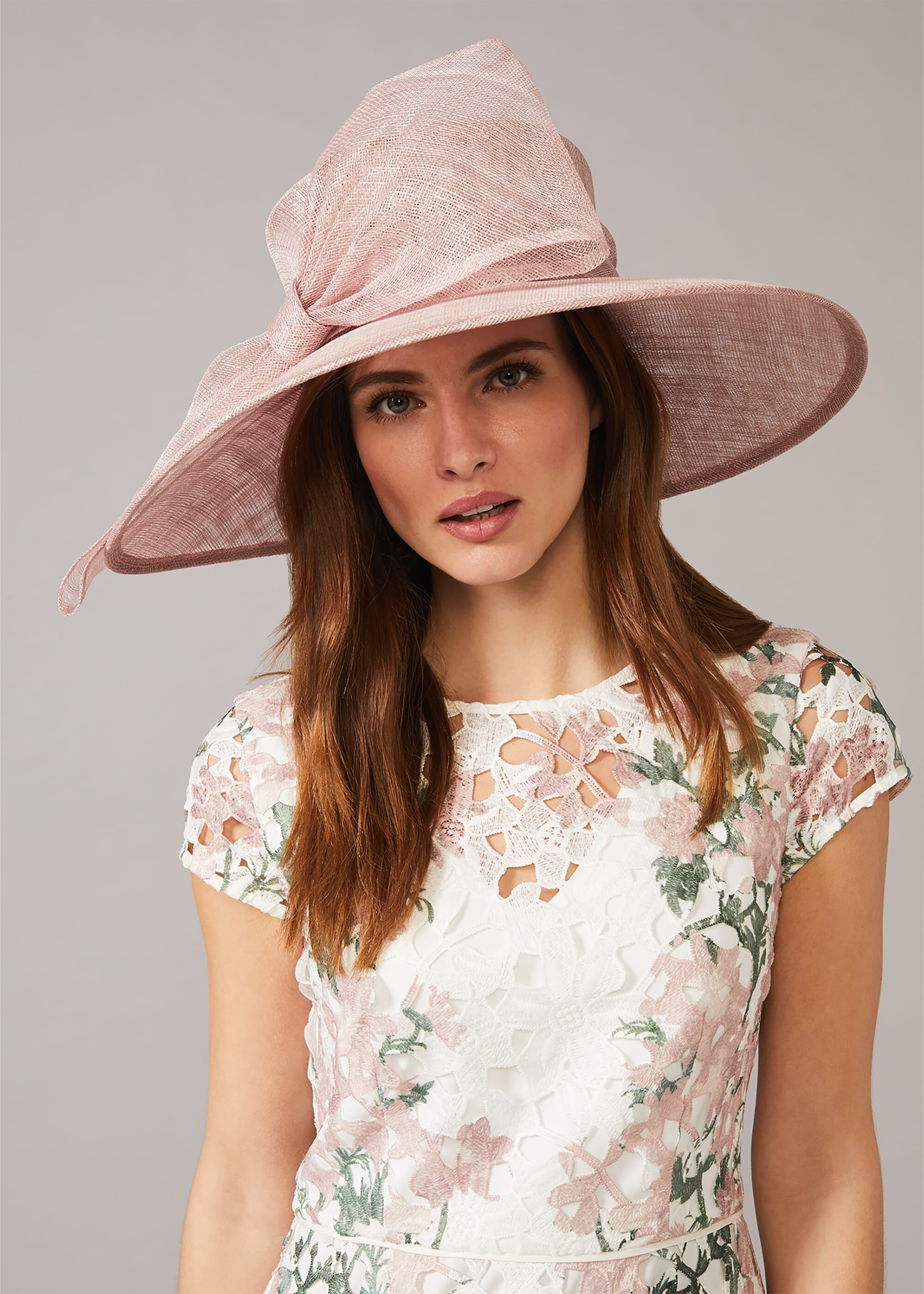 Phase Eight Timone Bow Hat, Pink, Hat