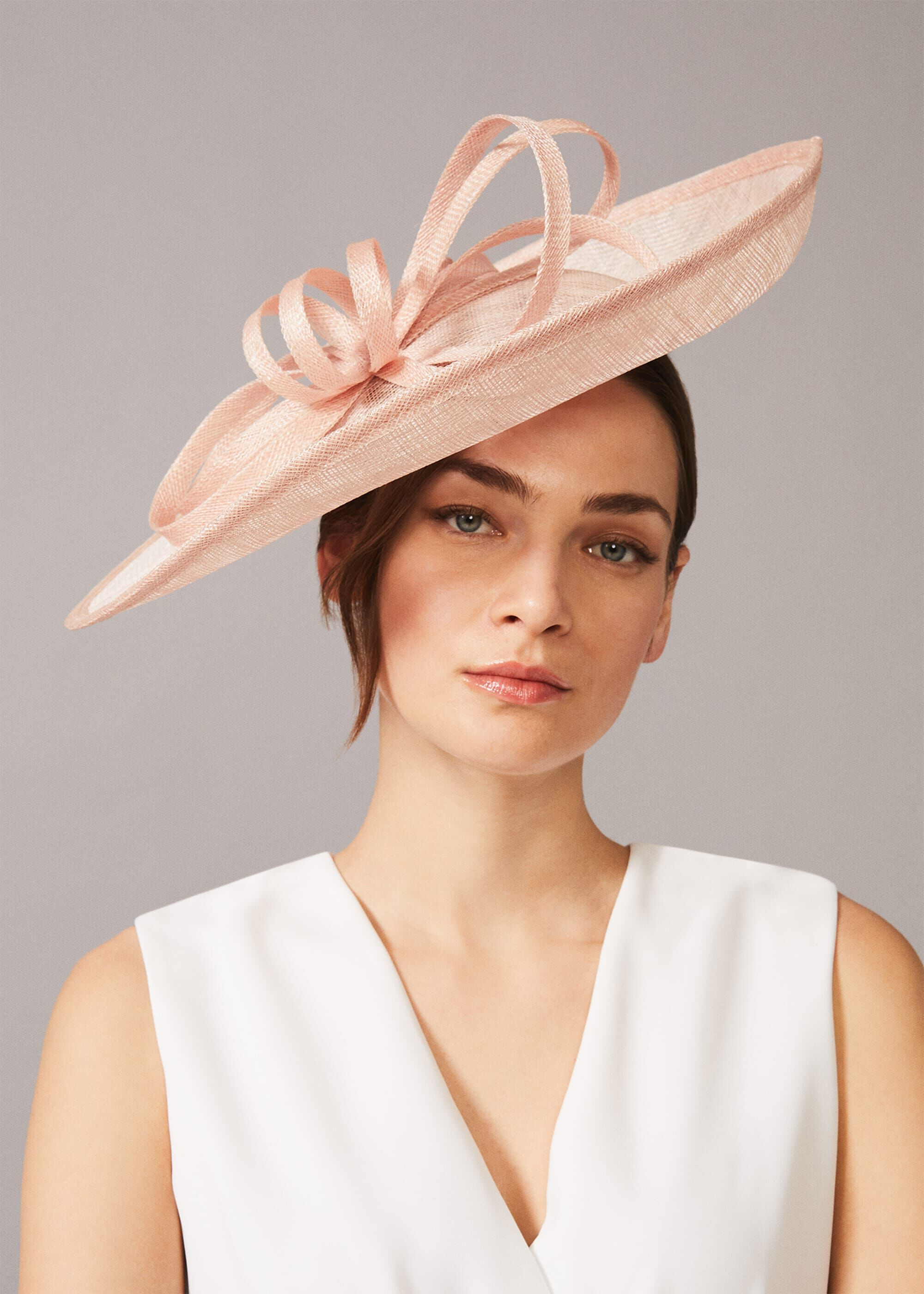 Phase Eight Naama Twist Disc Fascinator, Neutral, Fascinator
