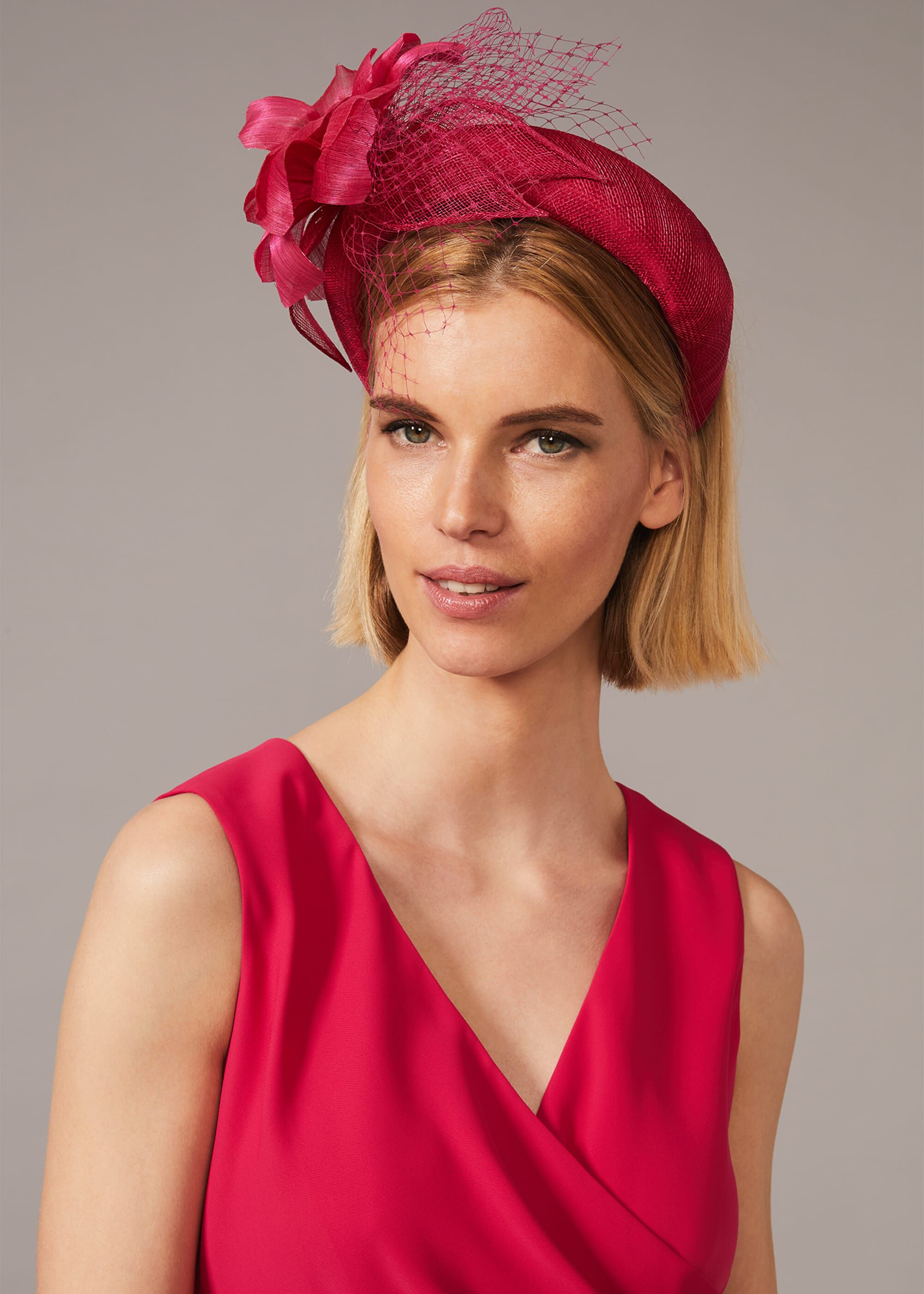 Phase Eight Lottie Flower Headband, Red, Hat