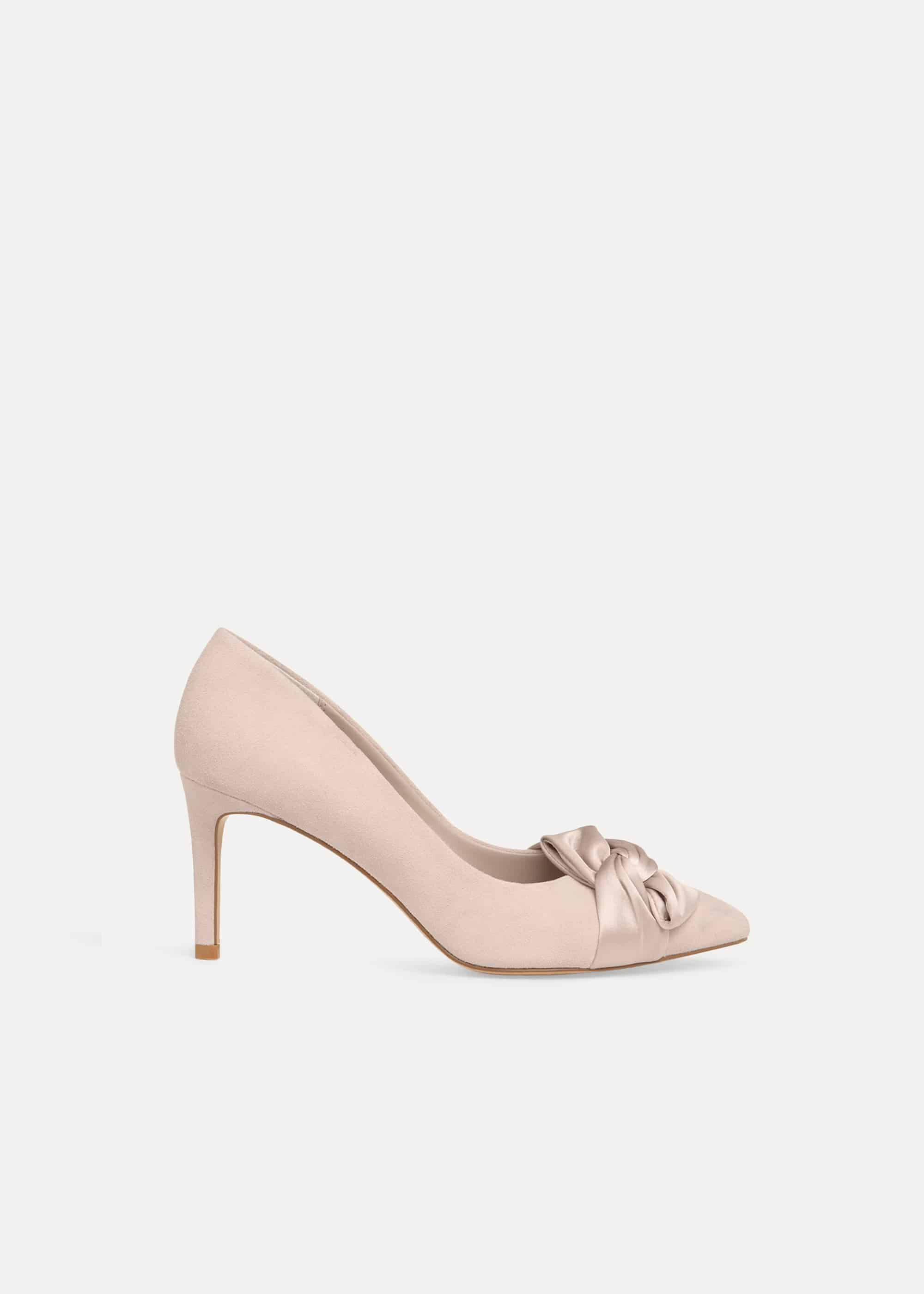 Phase Eight Gemma Twist Front Court Shoes, Pink, High Heels