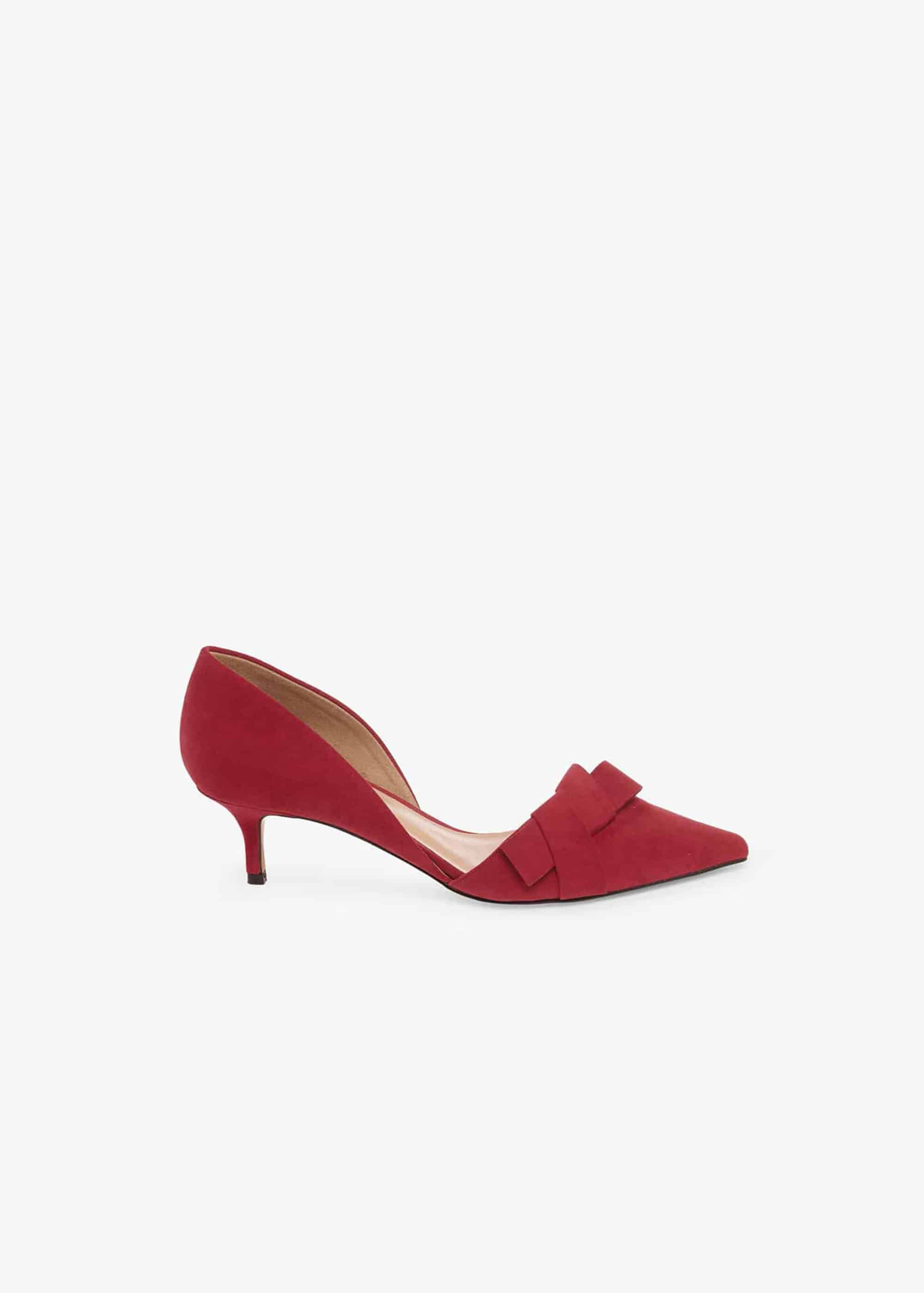 Phase Eight Maddy Two Part Kitten Heel Court Shoe, Red, High Heels