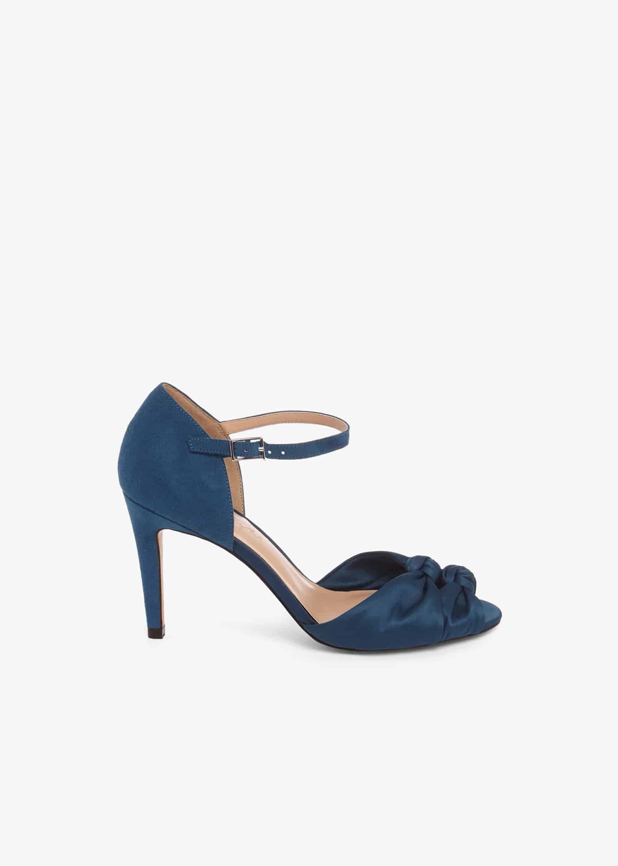Phase Eight Bonnie Knot Peep Toe Sandals, Blue, Sandals