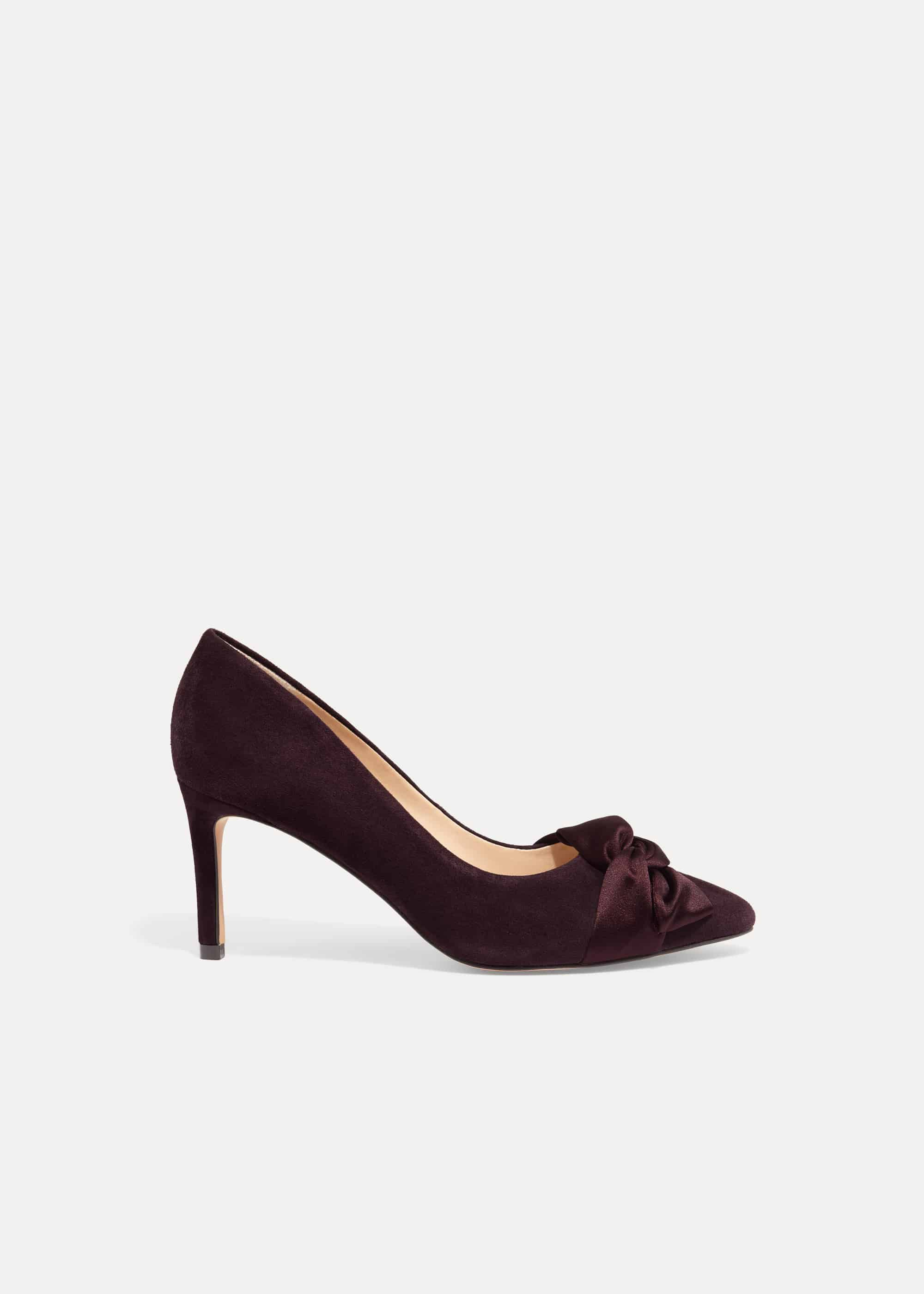 Phase Eight Gemma Twist Front Court Shoes, Red, High Heels
