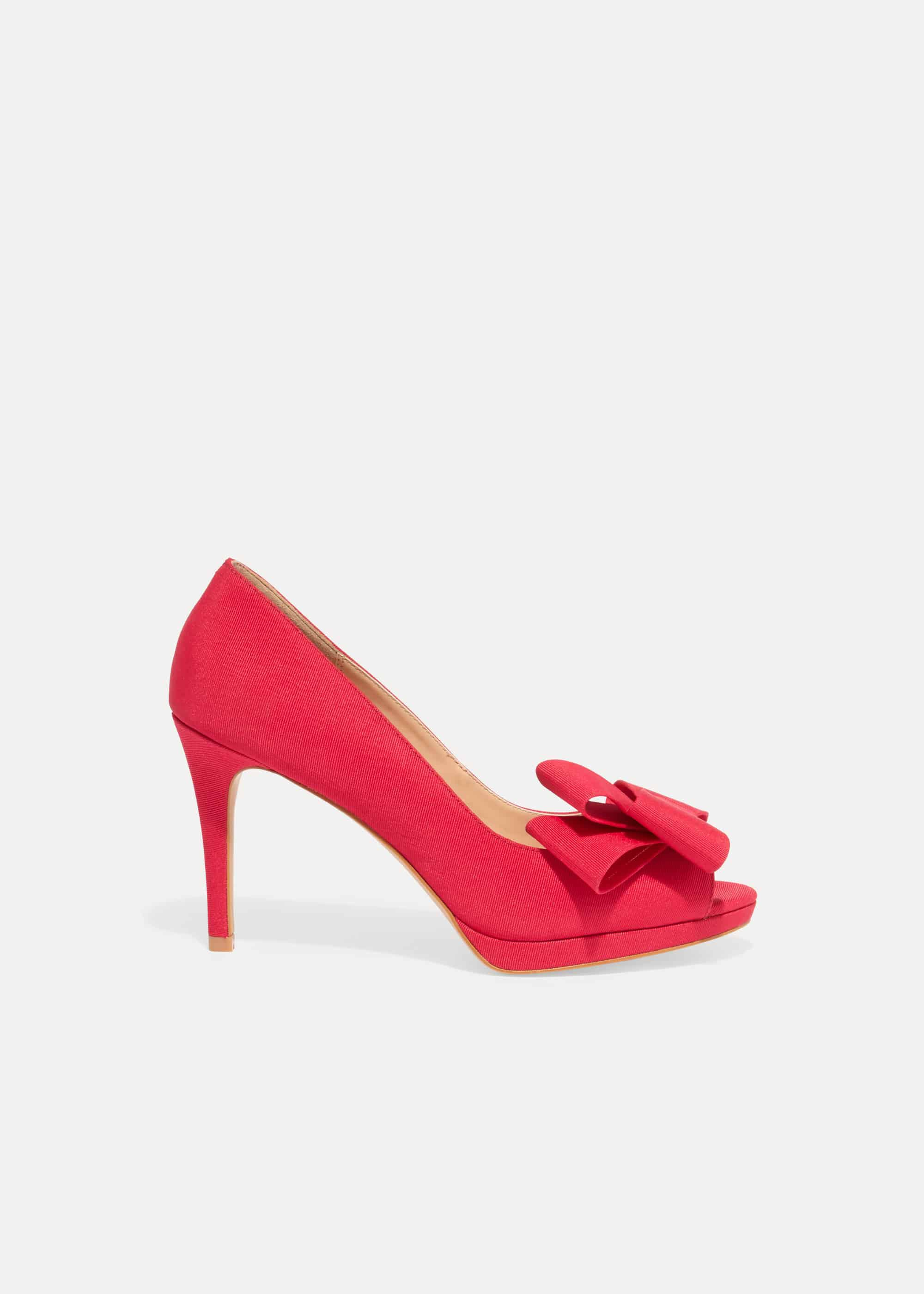 Phase Eight Tilly Peep Toe Shoes, Pink, Sandals