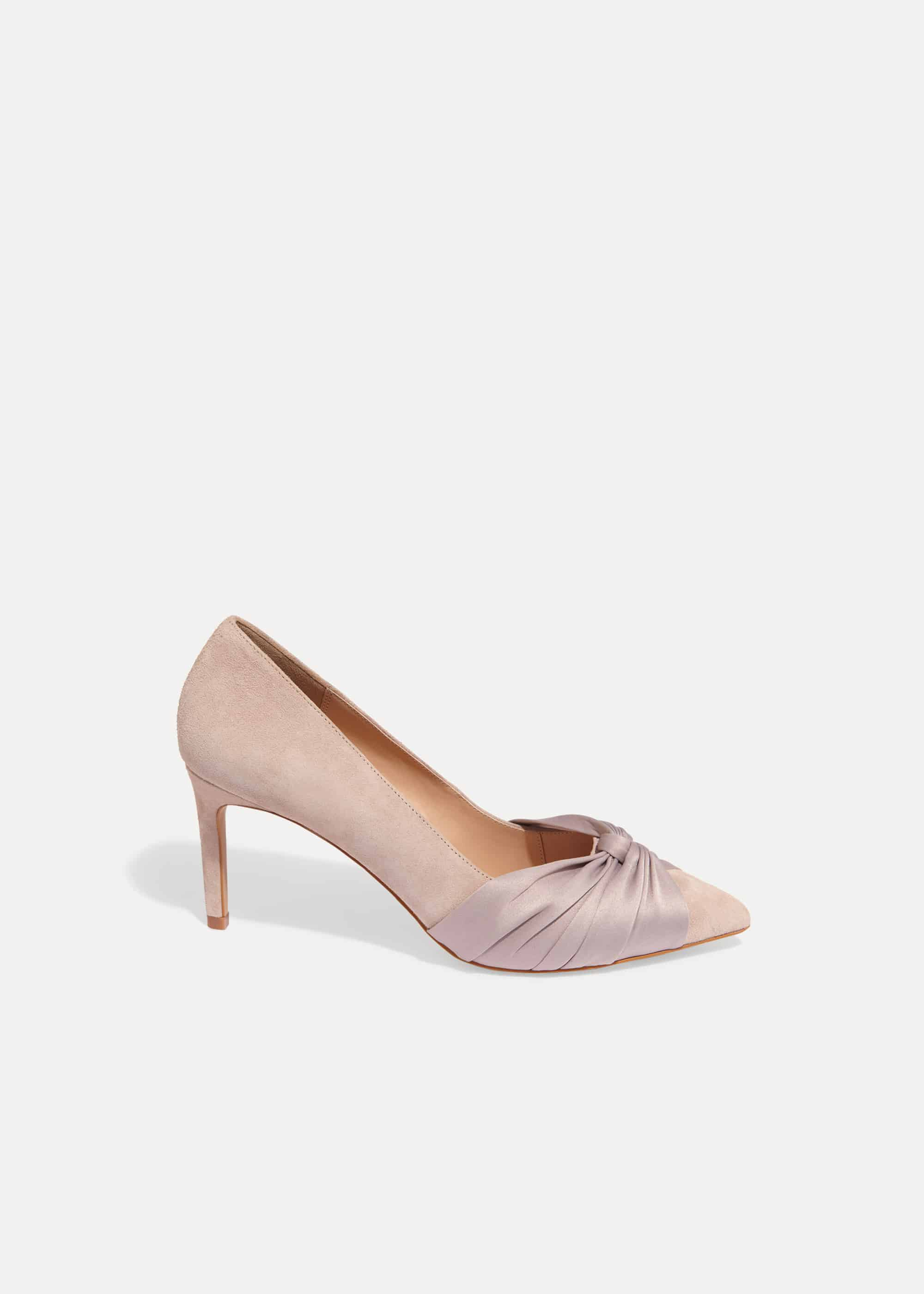 Phase Eight Kendal Knot Pointed Court Shoes, Brown, High Heels