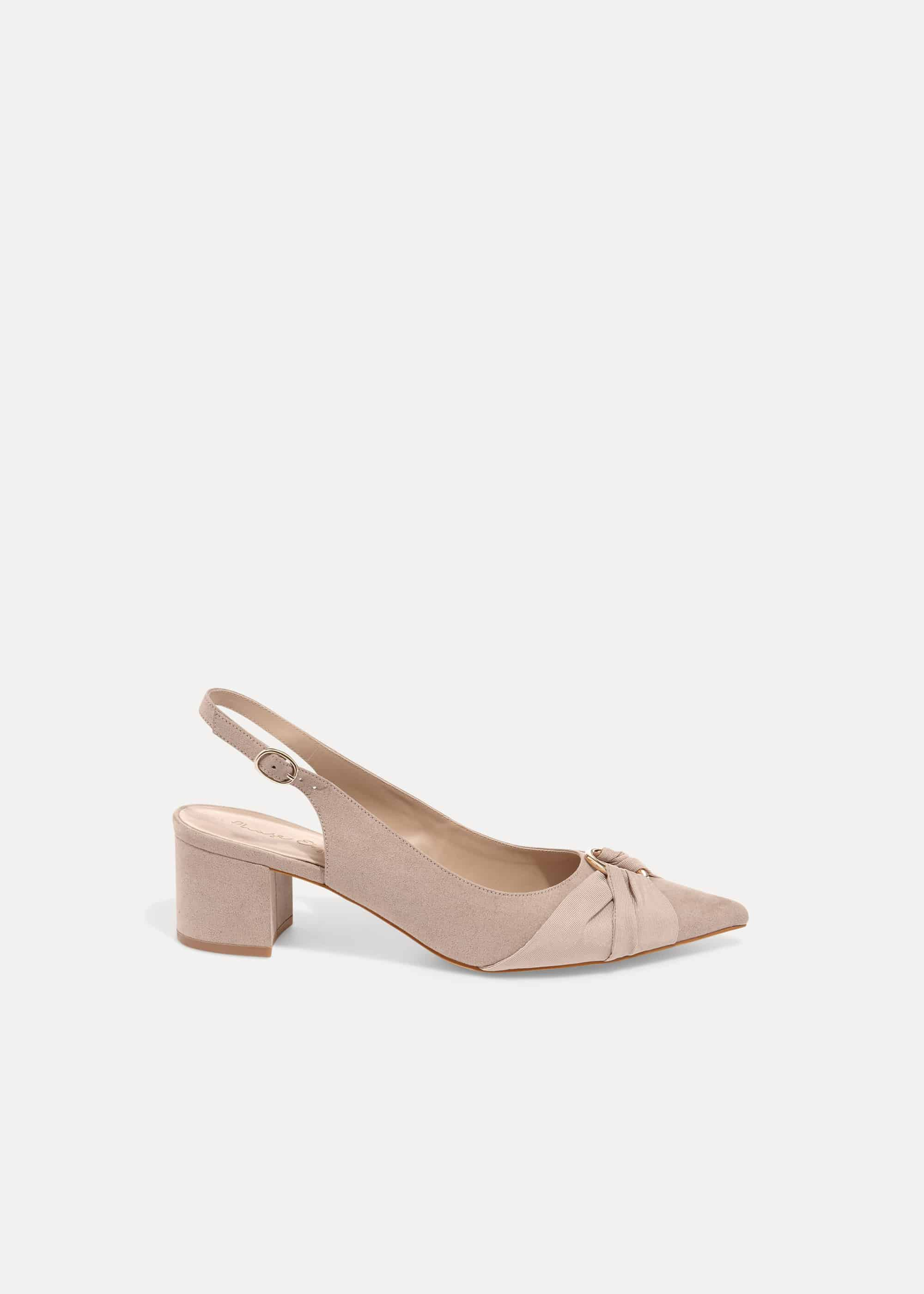 Phase Eight Giselle Block Heel Court Shoes, Brown, High Heels