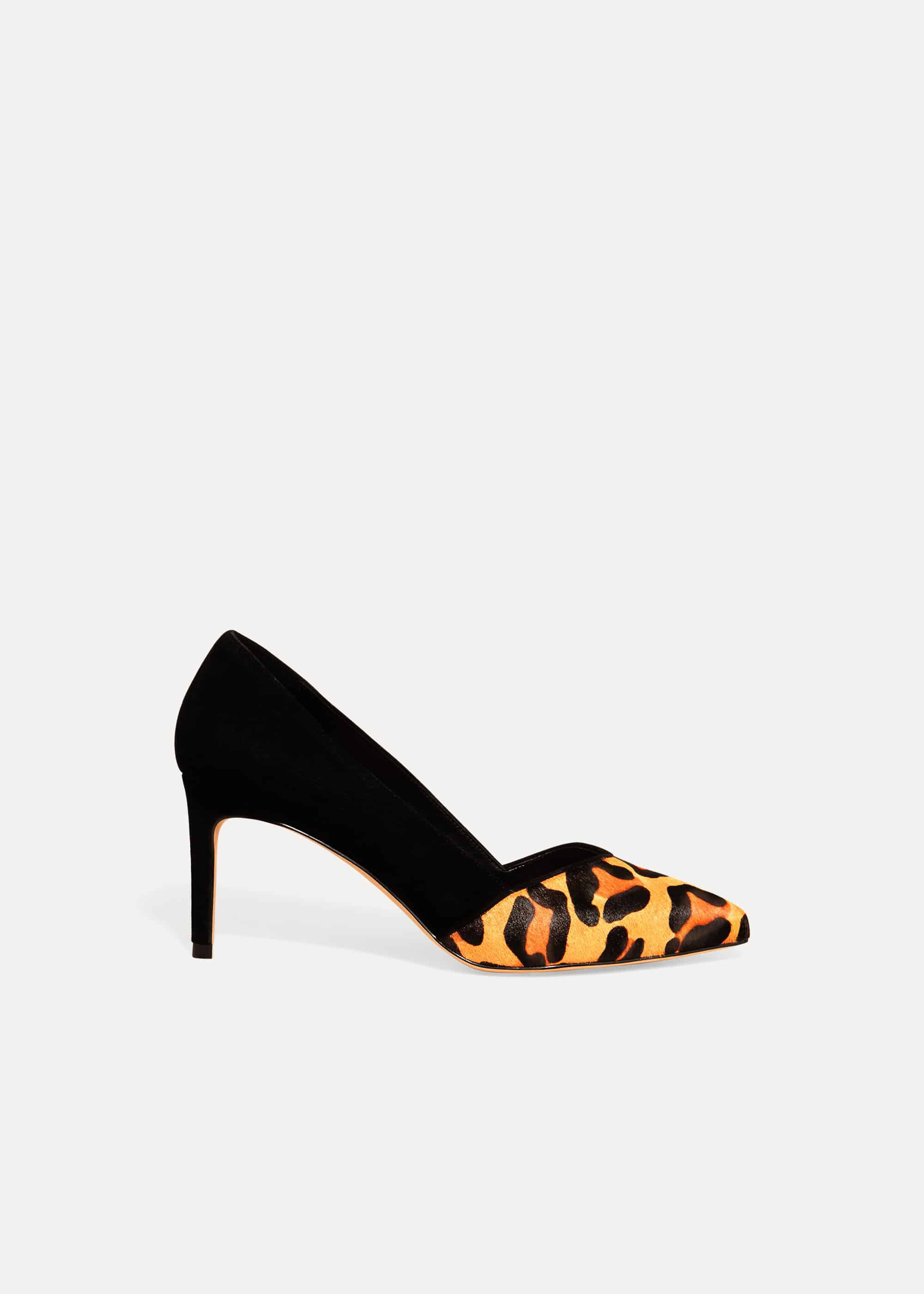 Phase Eight Lo Leopard Print Shoe, Multicoloured, High Heels