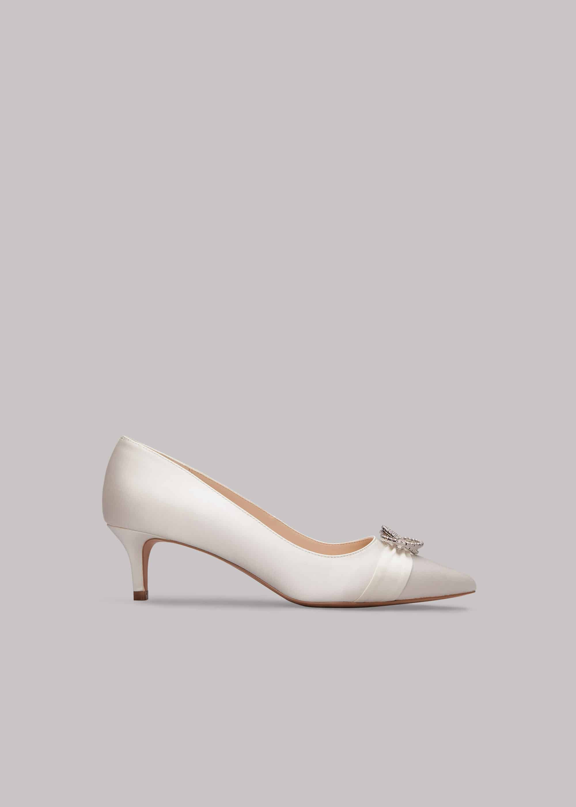 Phase Eight Joelle Sparkle Shoe, Cream, High Heels