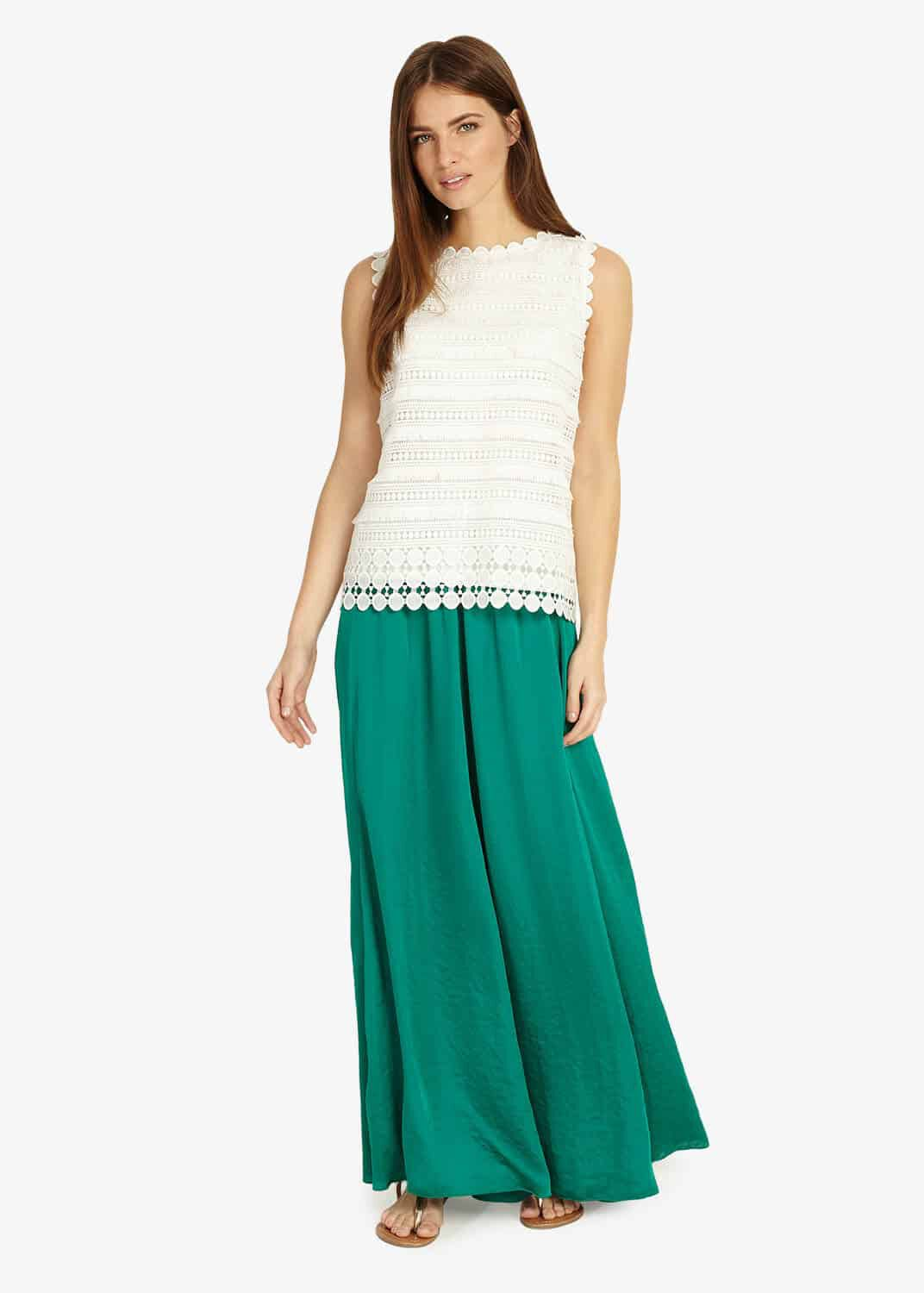 Phase Eight Belinda Maxi Skirt, Blue, Maxi Skirt