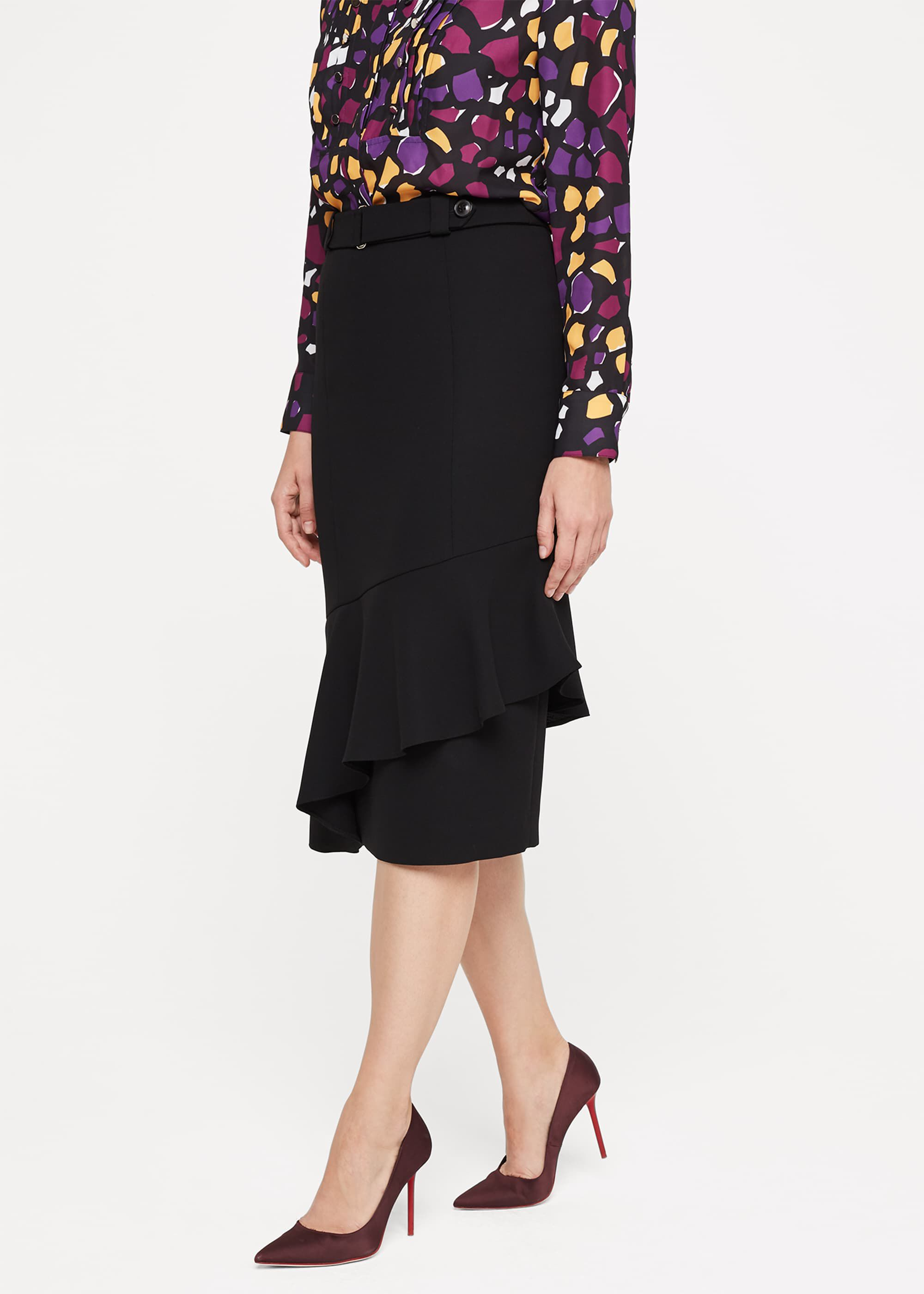 Damsel in a Dress Lydia City Suit Frill Skirt, Black
