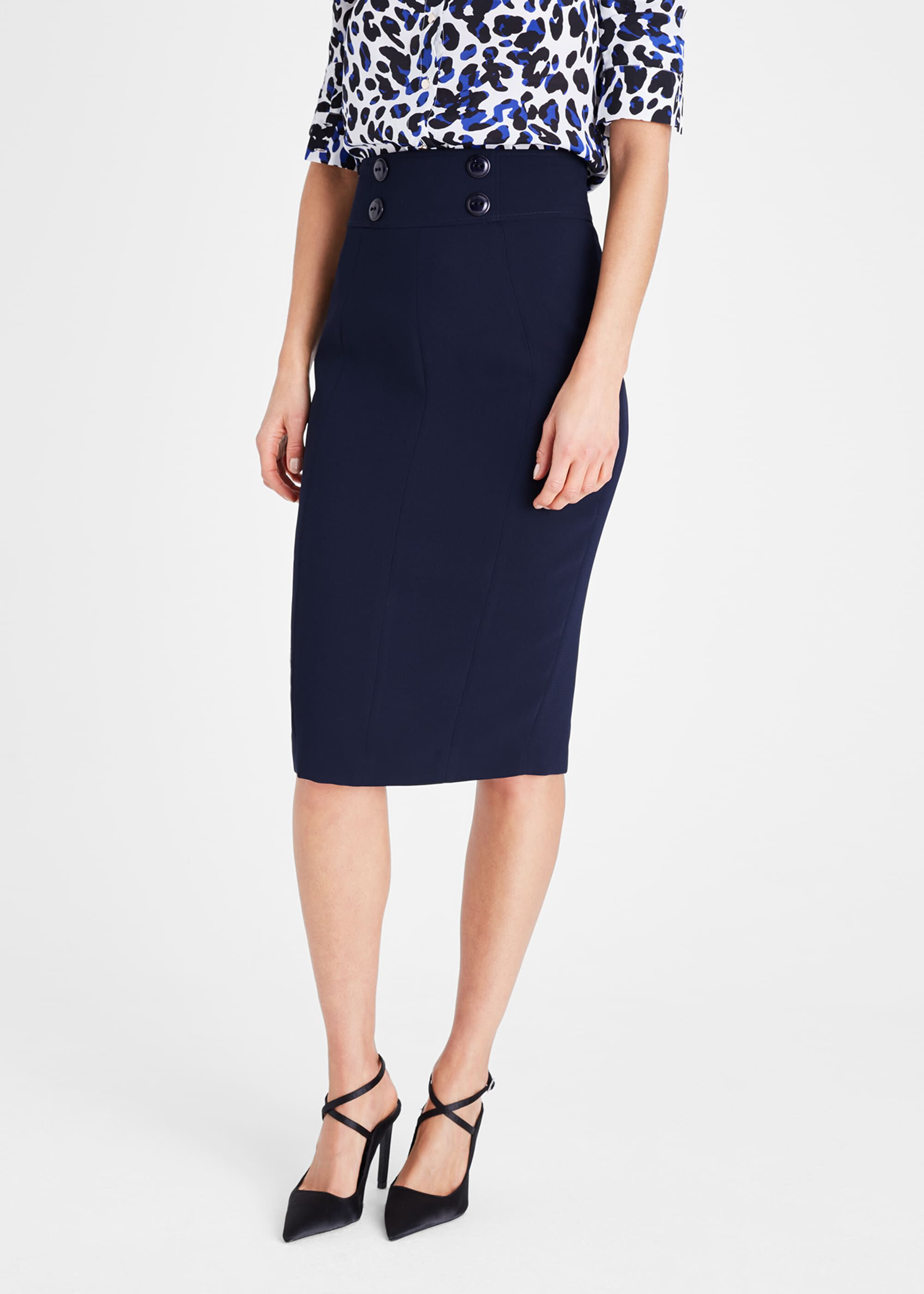Damsel in a Dress Nina City Suit Skirt, Blue
