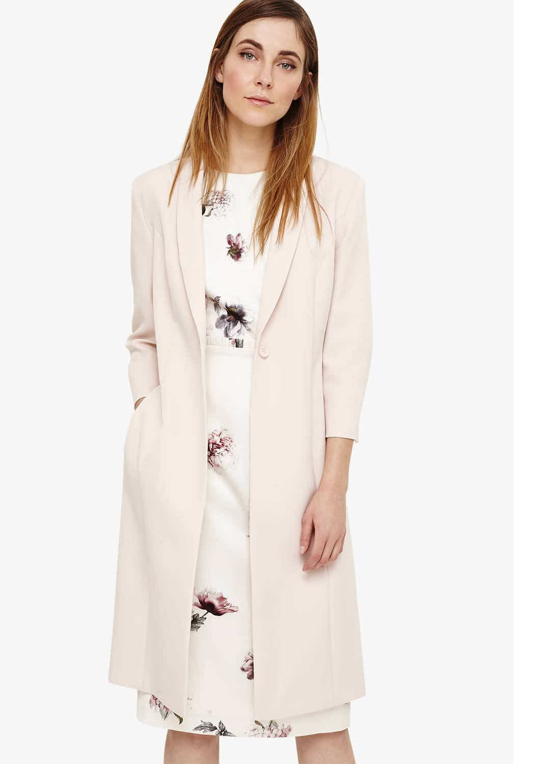 Phase Eight Willow Long Line Jacket, Pink