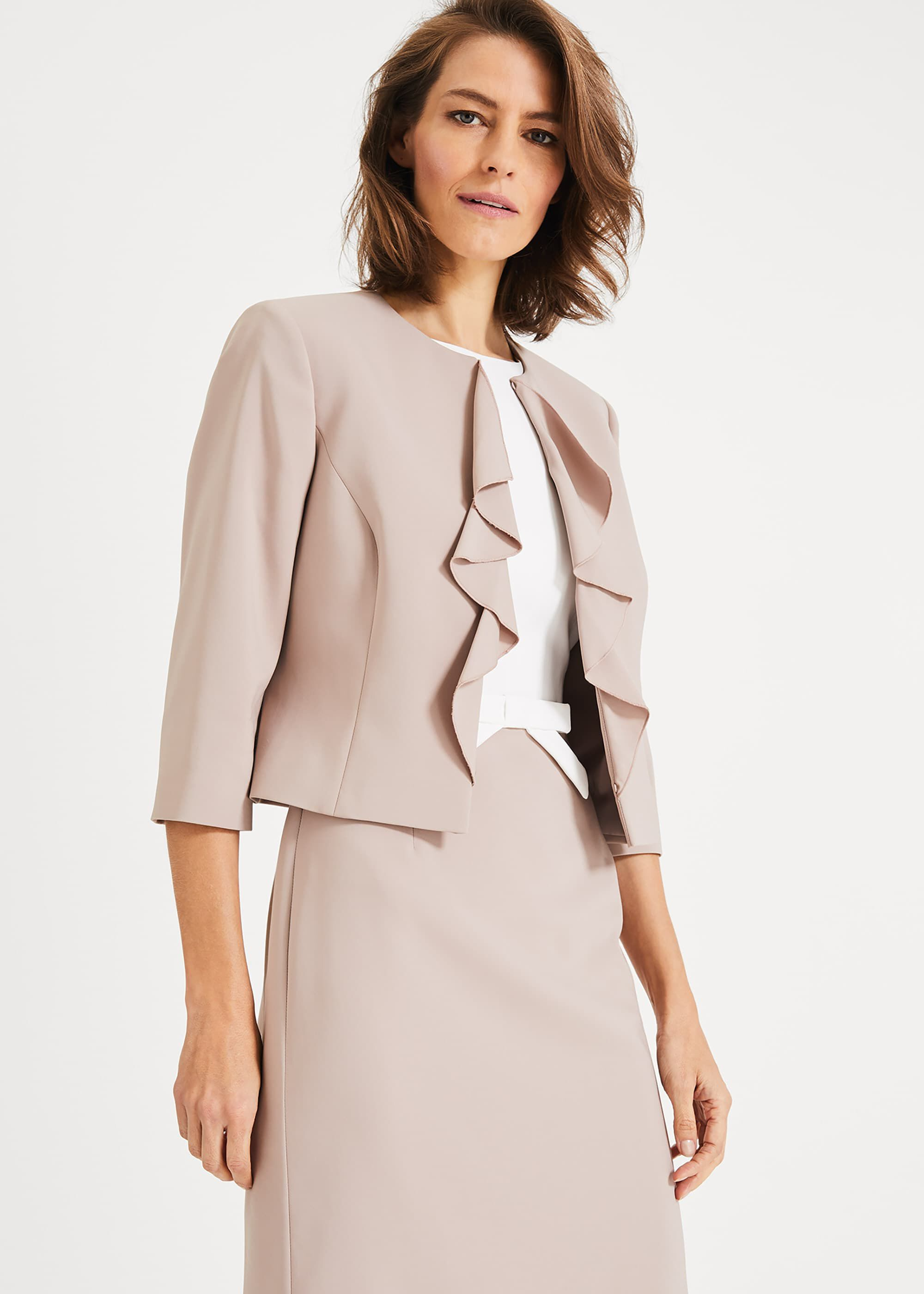 Phase Eight Stella Frill Jacket, Brown