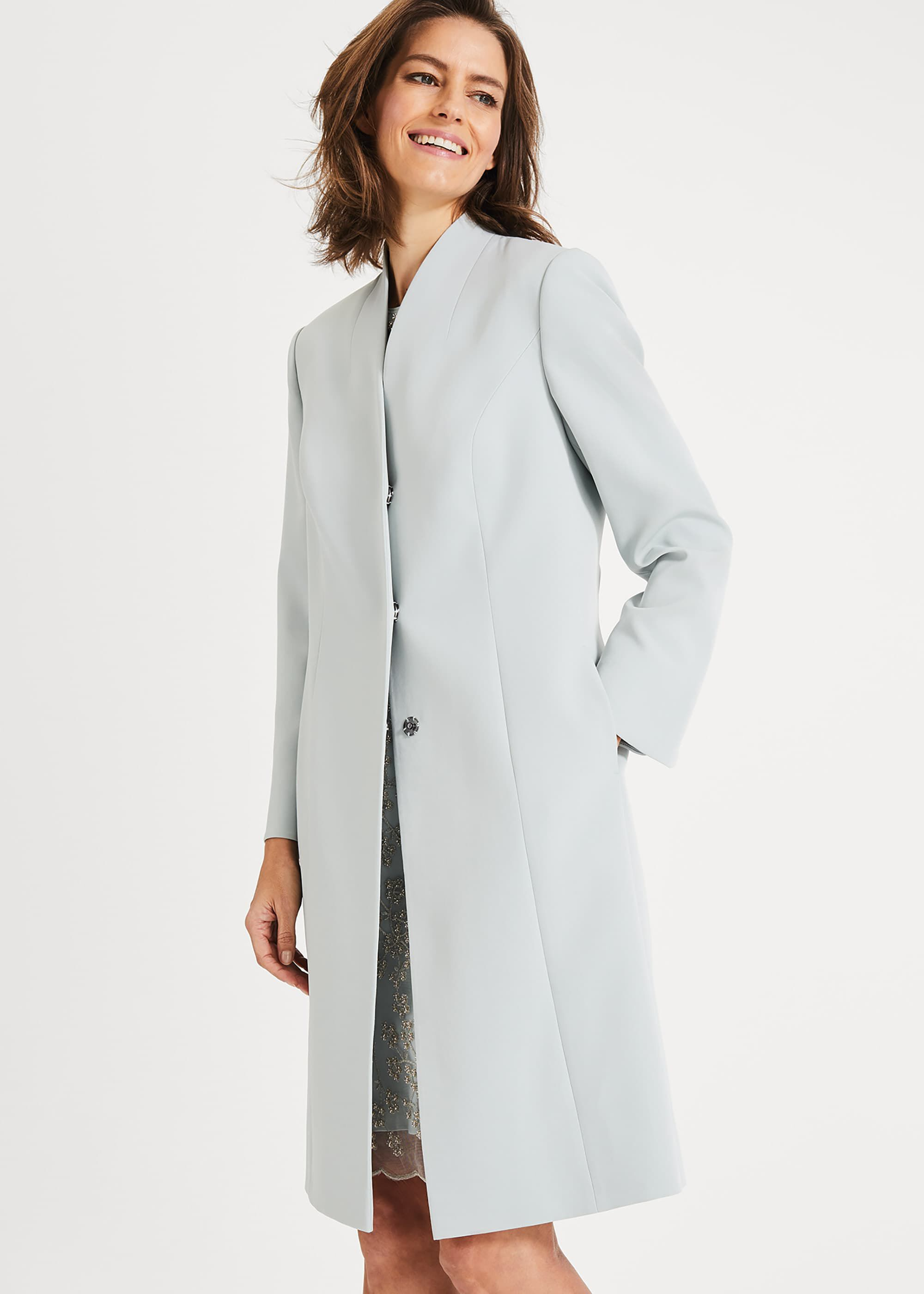 Phase Eight Constanza Coat, Blue