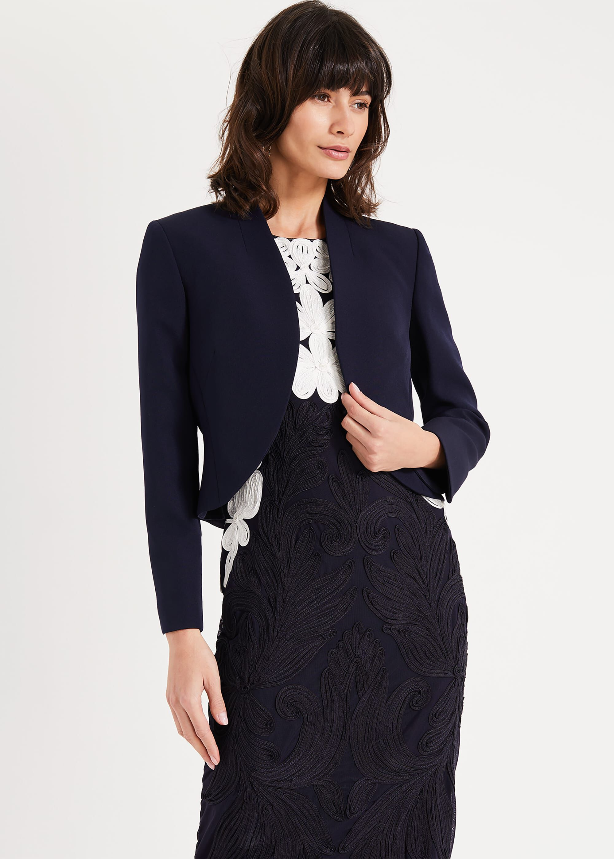 Phase Eight Caroline Peplum Back Jacket, Blue