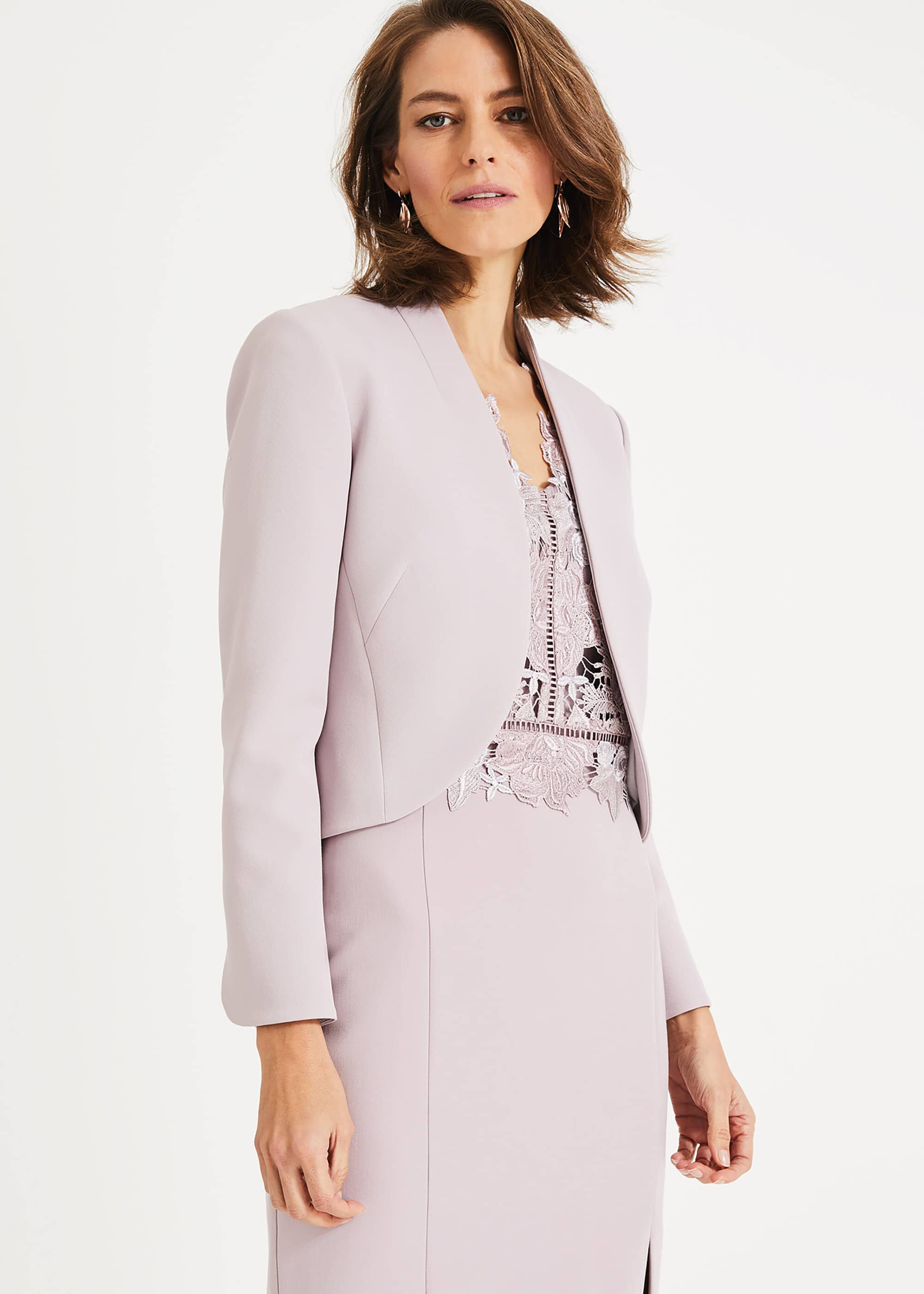 Phase Eight Caroline Peplum Back Jacket, Purple