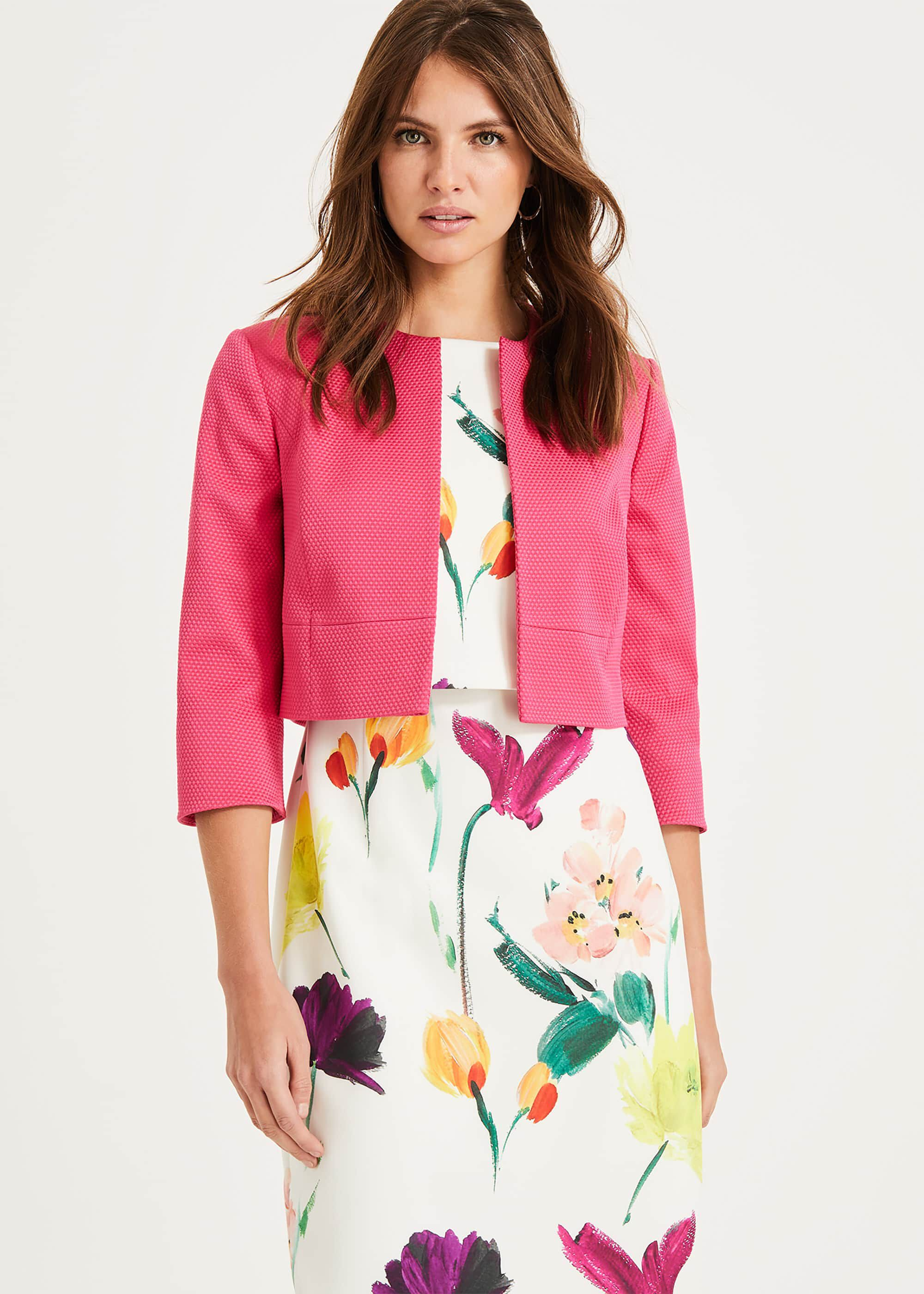 Phase Eight Toni Textured Jacket, Pink