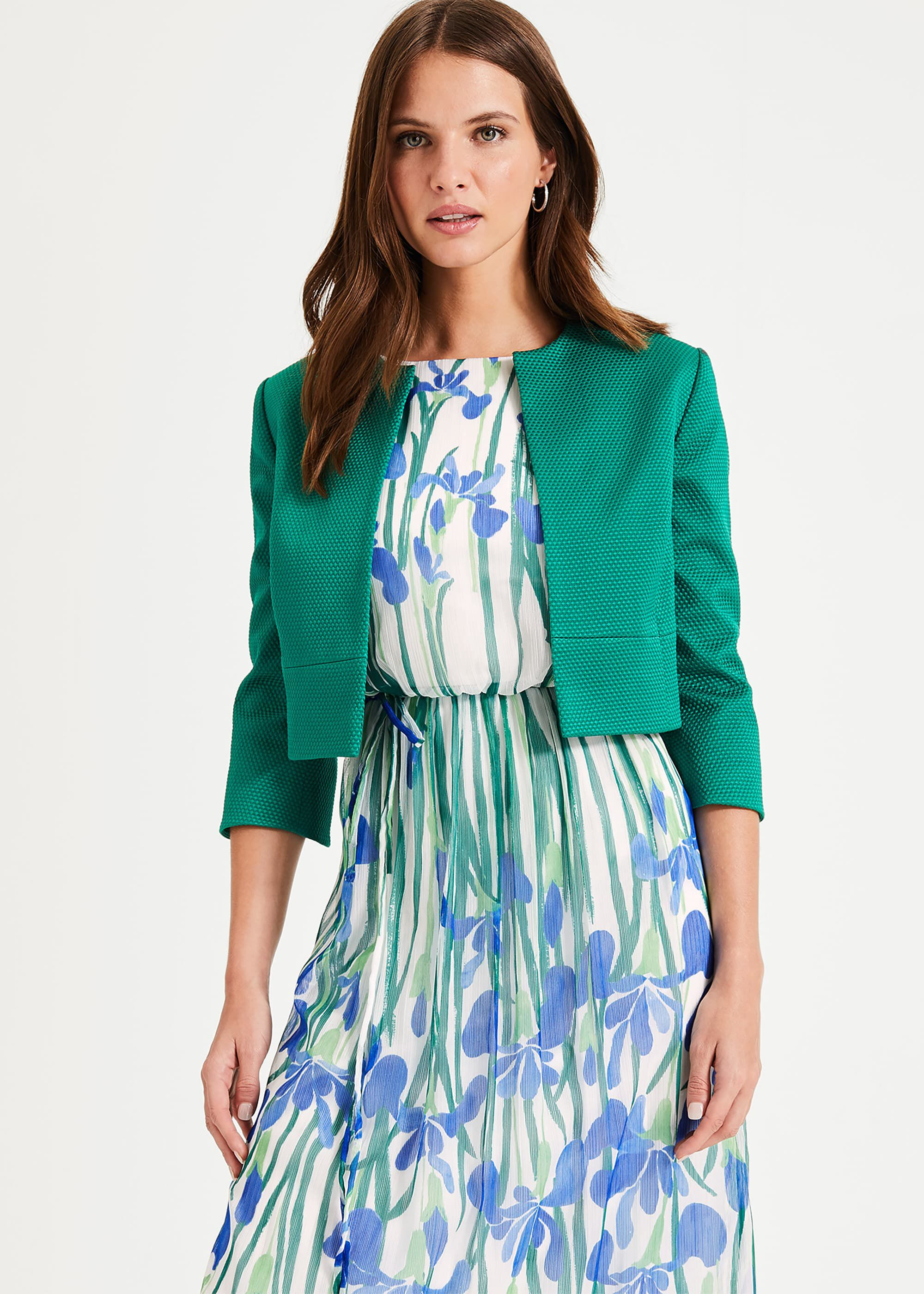 Phase Eight Toni Textured Jacket, Green