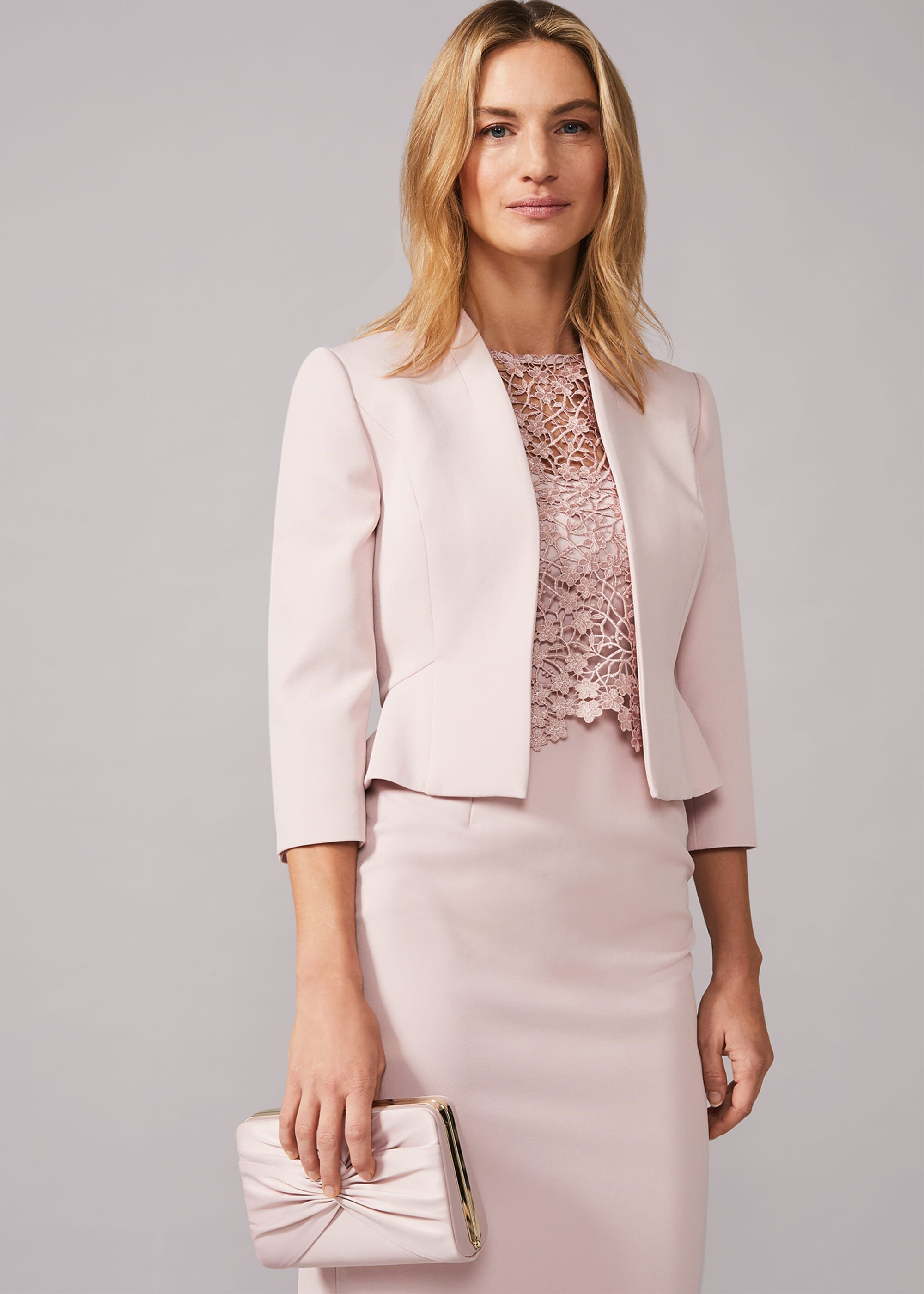 Phase Eight Mariposa Occasion Jacket, Pink