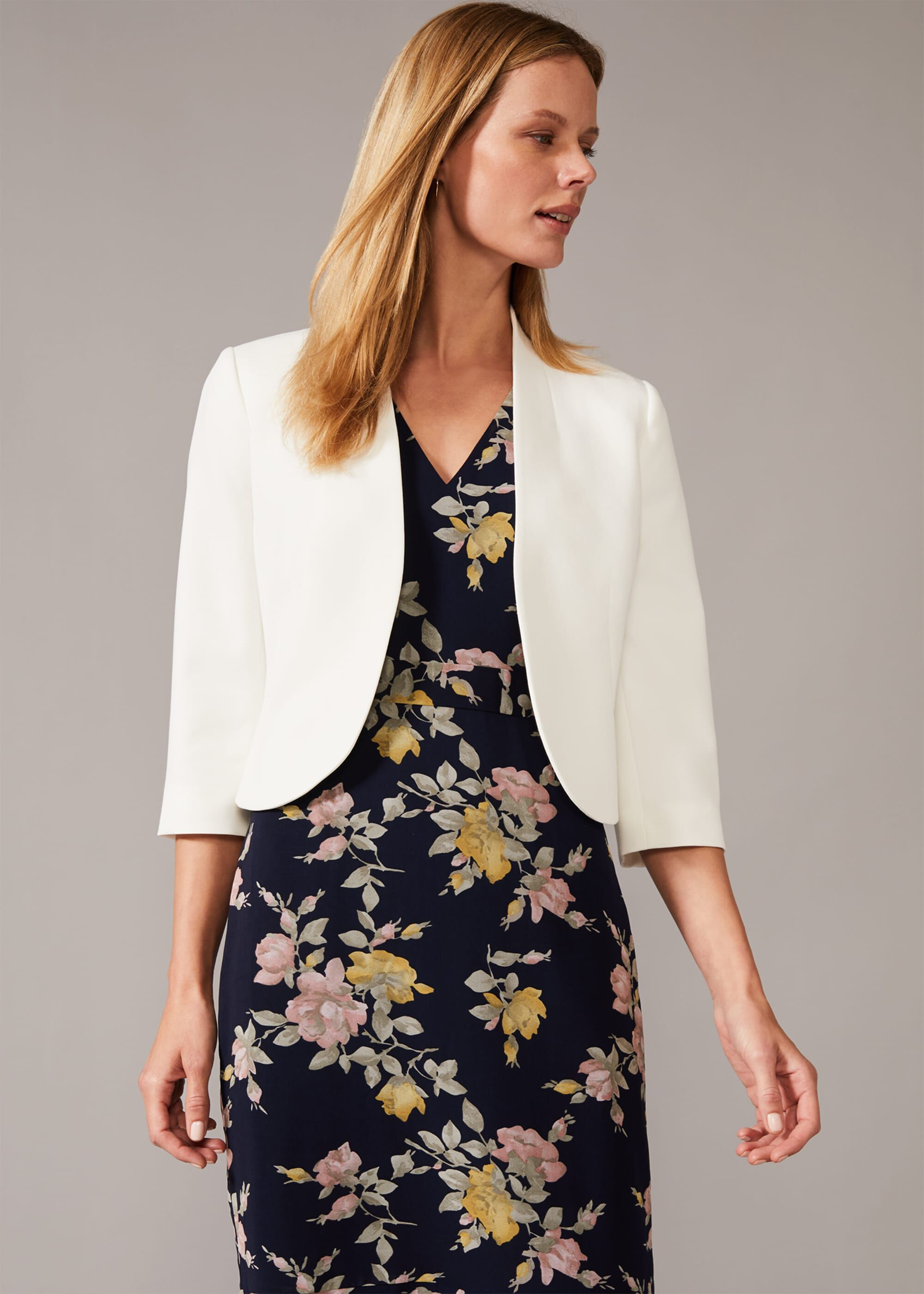Phase Eight Taylor Occasion Jacket, Cream
