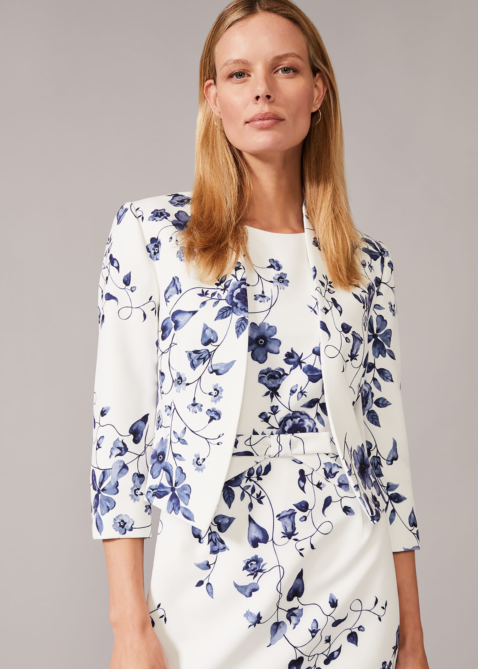 Phase Eight Tori Floral Occasion Jacket, Cream