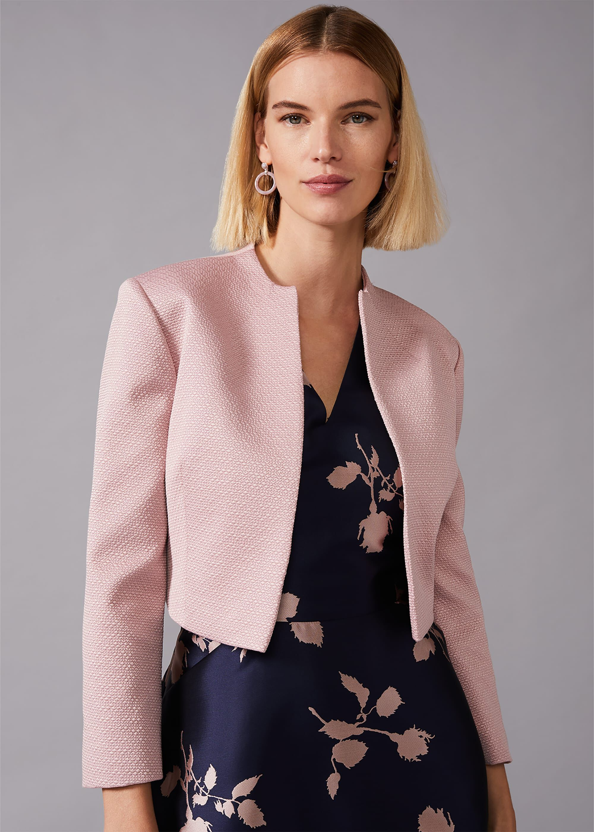 Phase Eight Karlee Textured Occasion Jacket, Pink