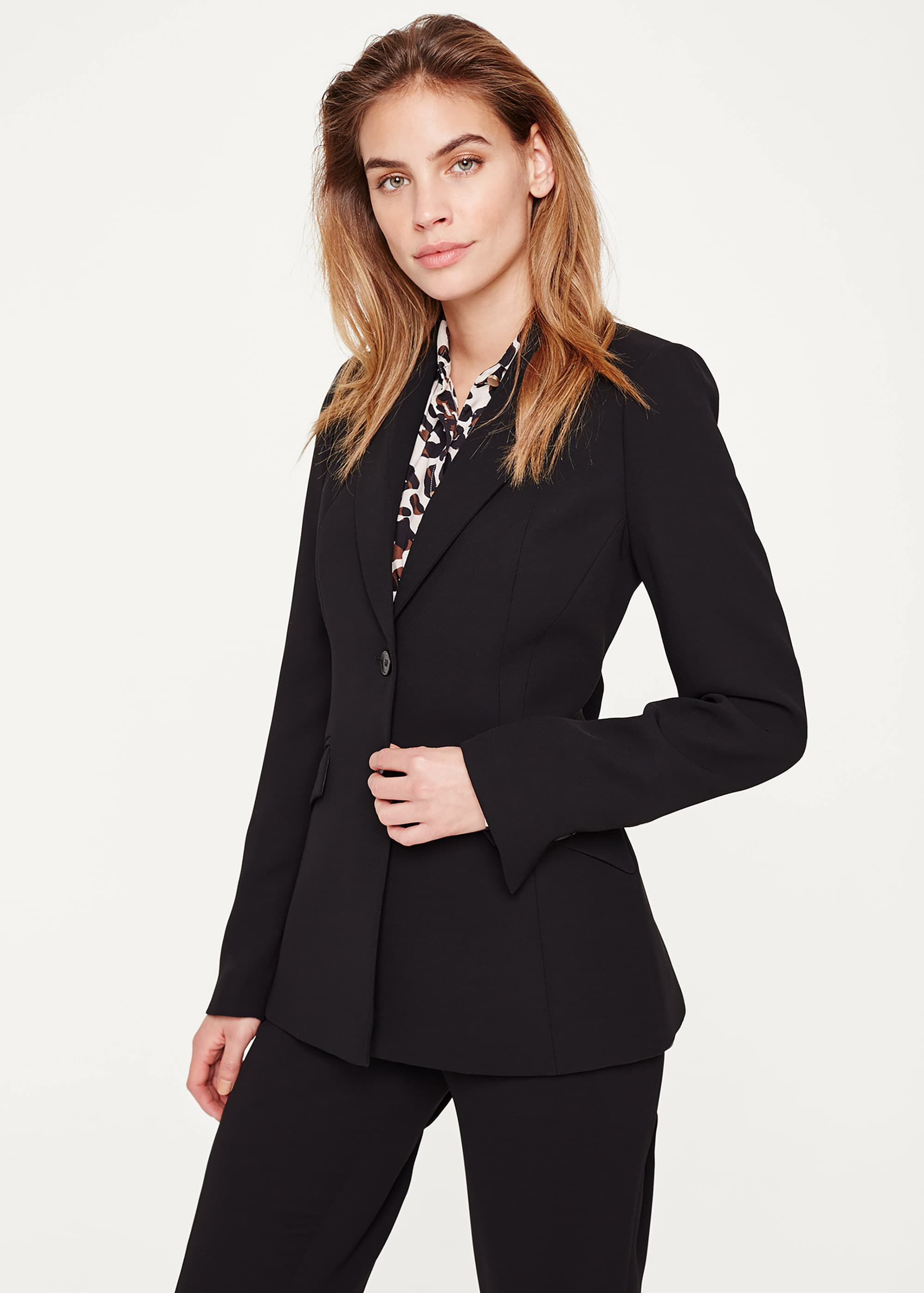Damsel in a Dress Isabella City Suit Jacket, Black