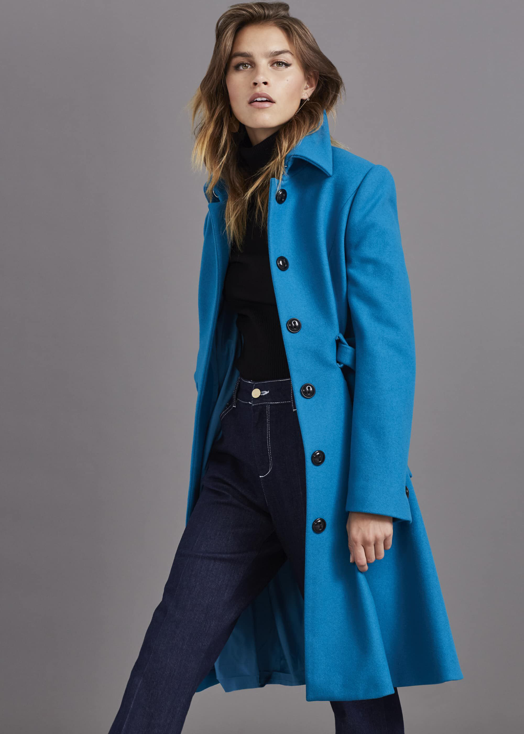 Damsel in a Dress Reeba Coat, Blue
