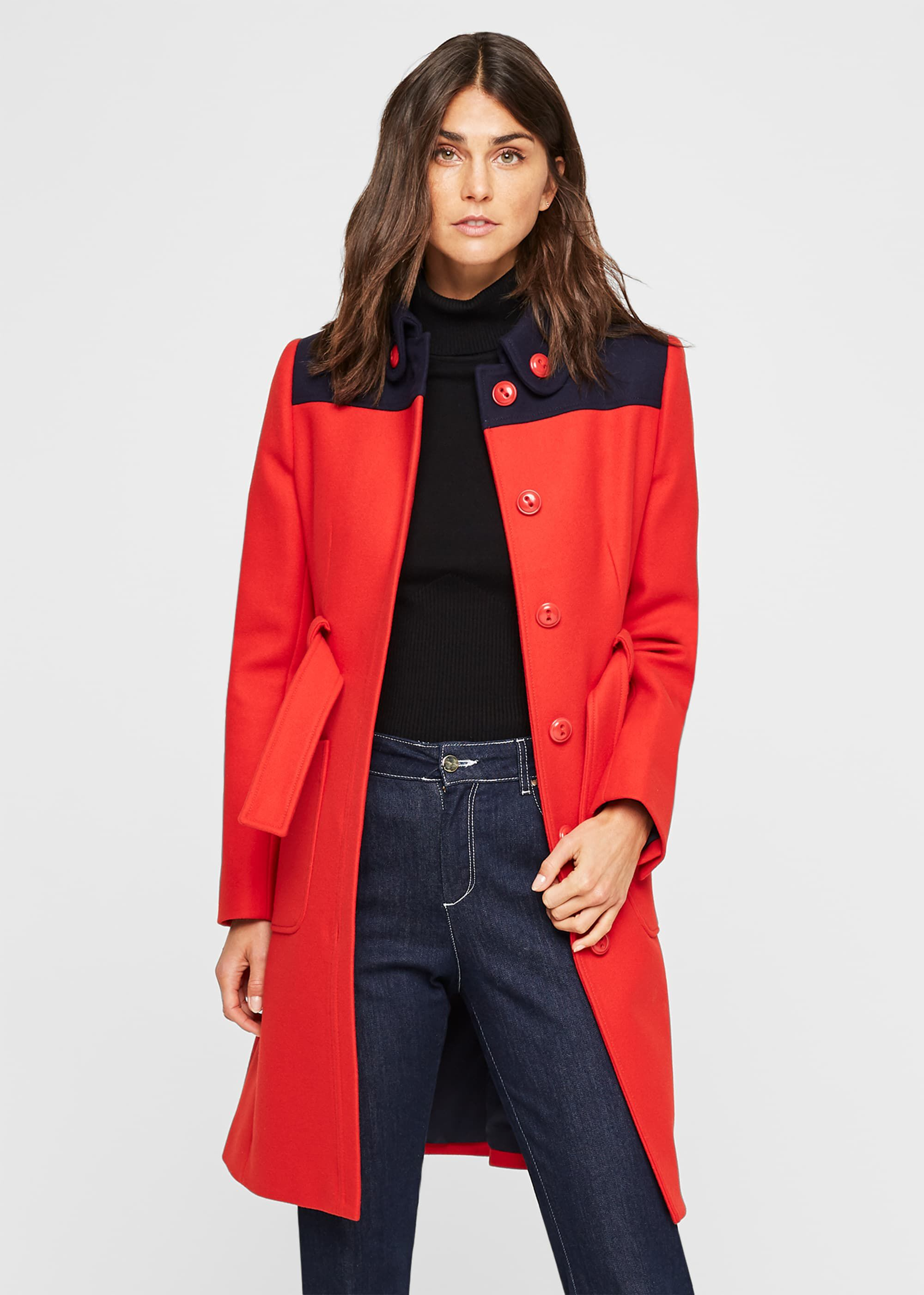 Damsel in a Dress Baylie Colourblock Coat, Blue
