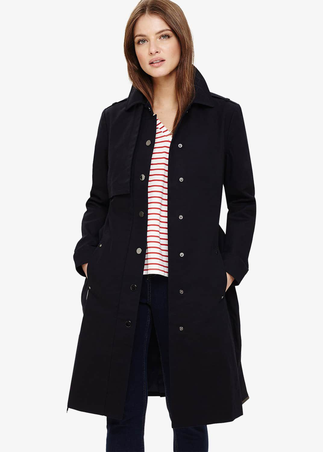 Phase Eight Teah Trench Coat, Blue