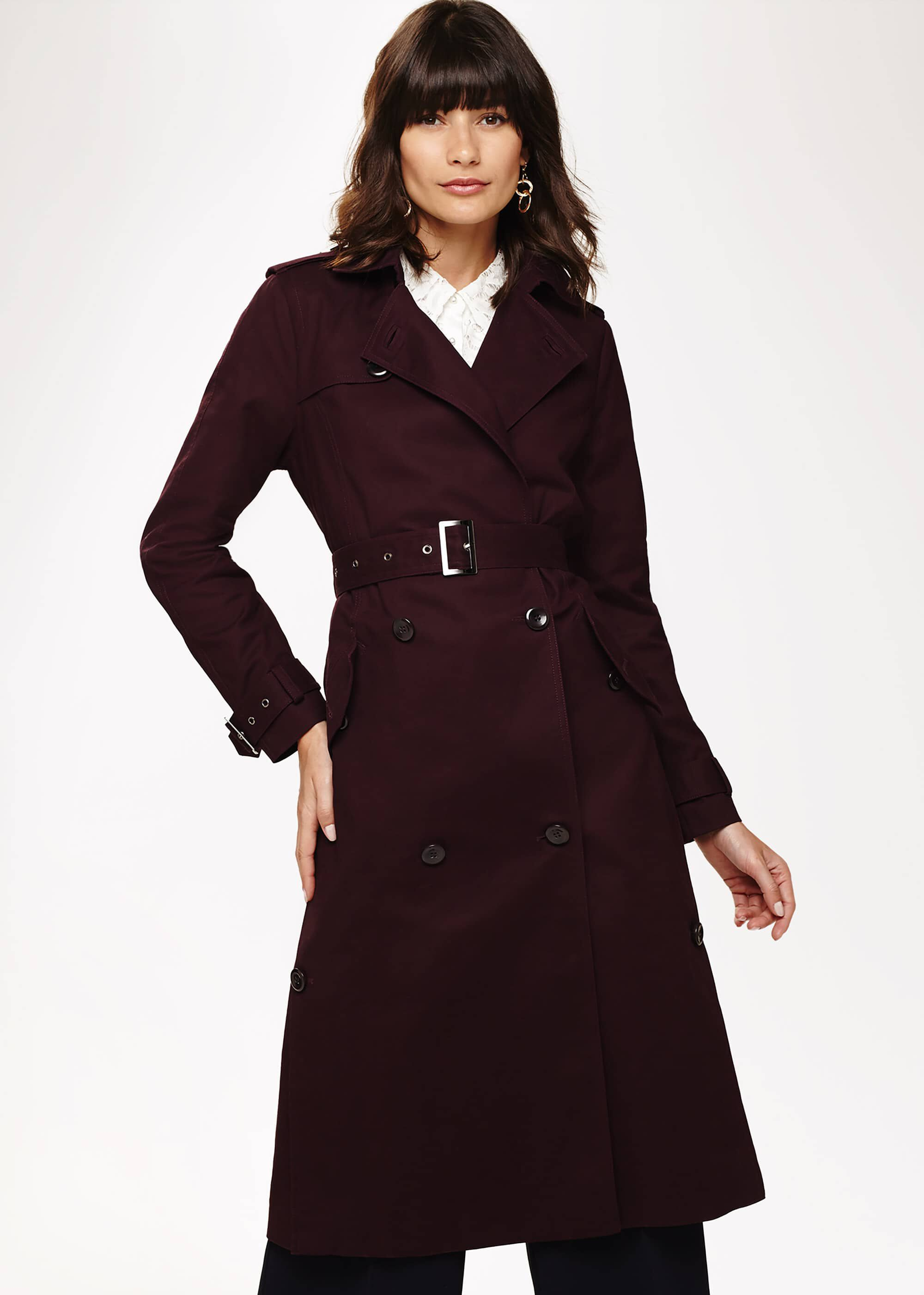Phase Eight Trudie Trench Coat, Red