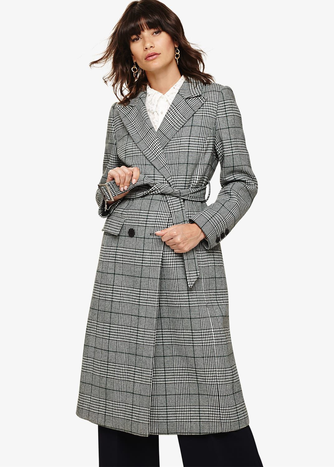 Phase Eight Carmel Check Trench Coat, Multicoloured