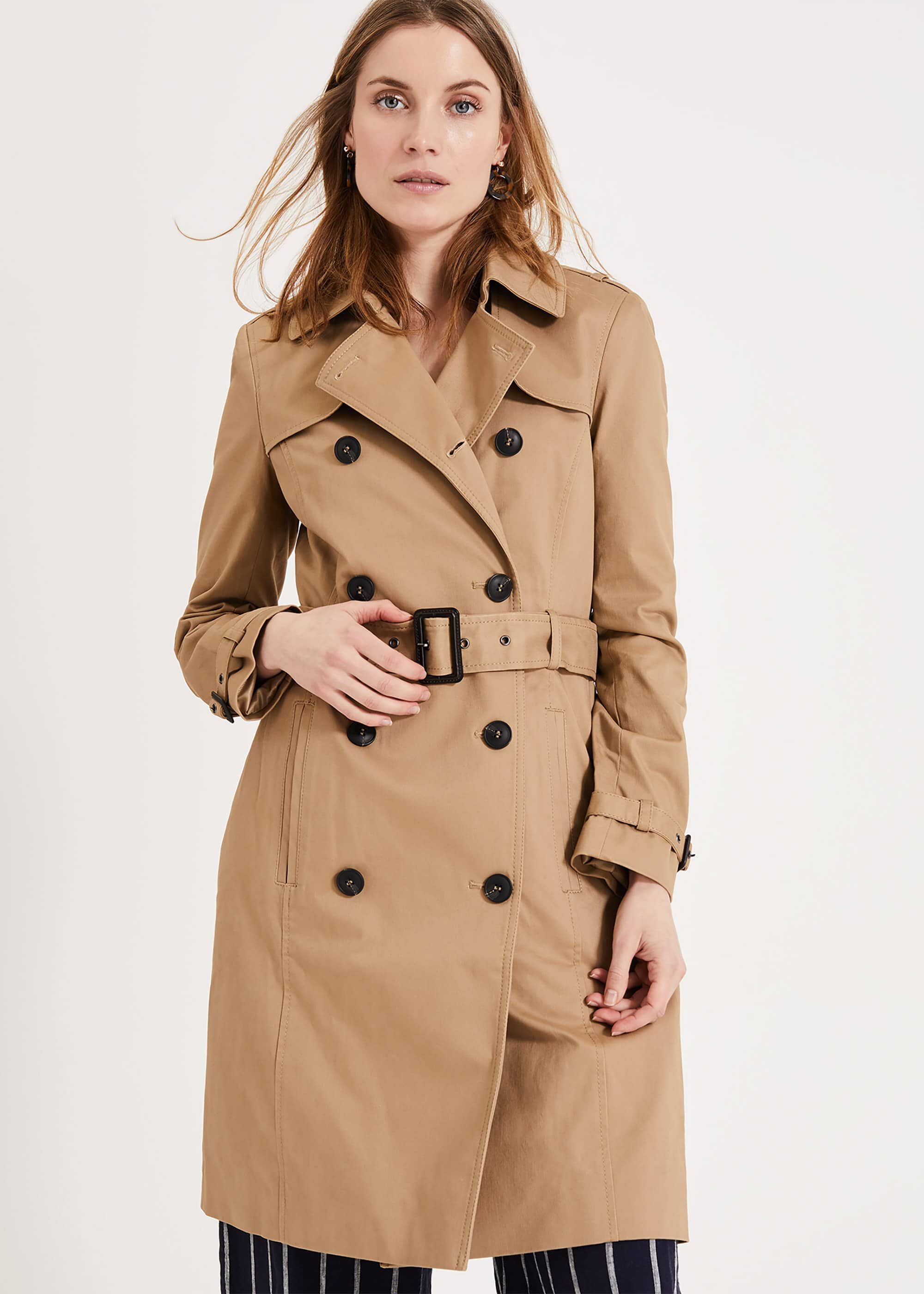 Phase Eight Catie Trench Coat, Neutral