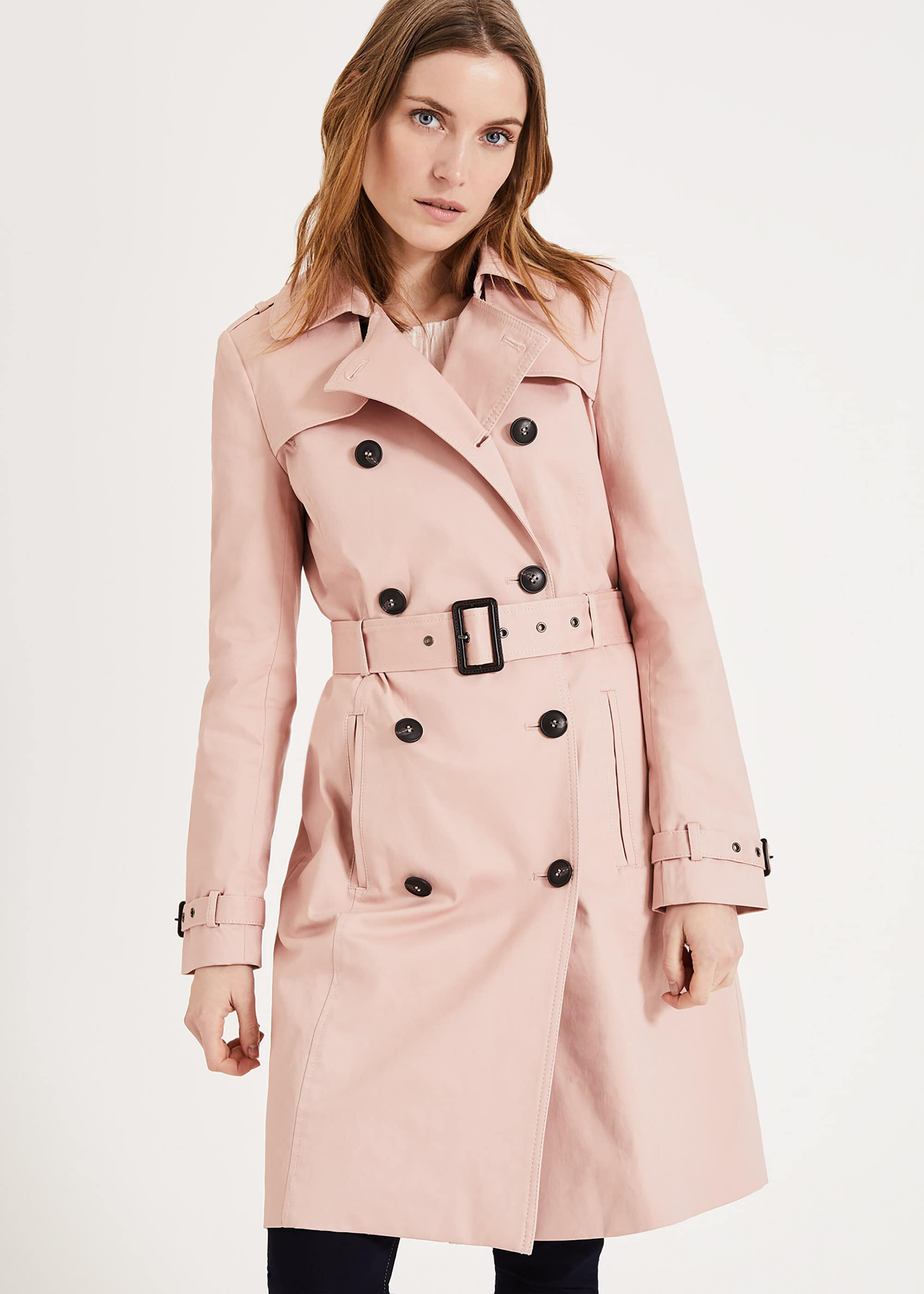 Phase Eight Catie Trench Coat, Pink