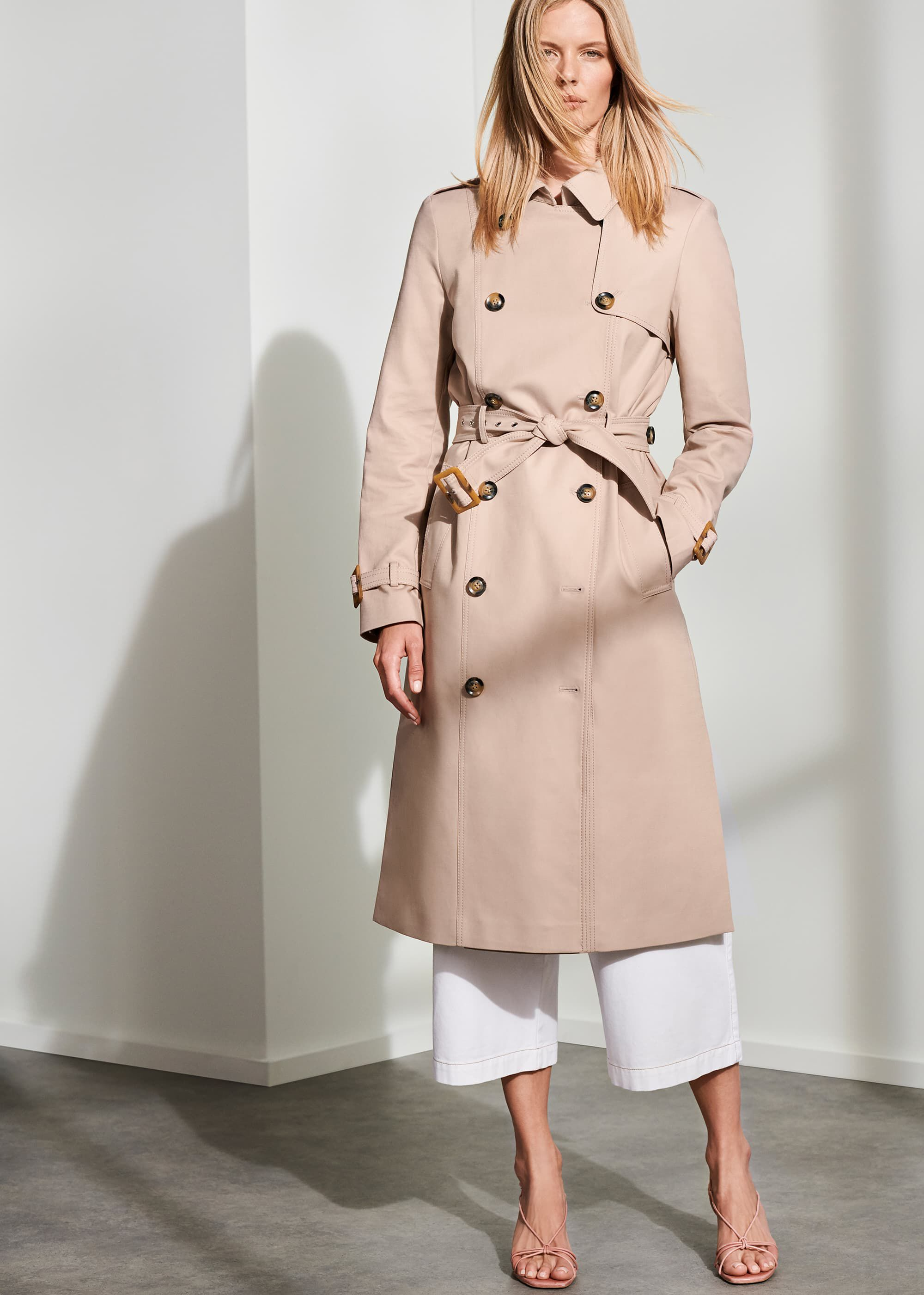 Phase Eight Lise Trench Coat, Neutral